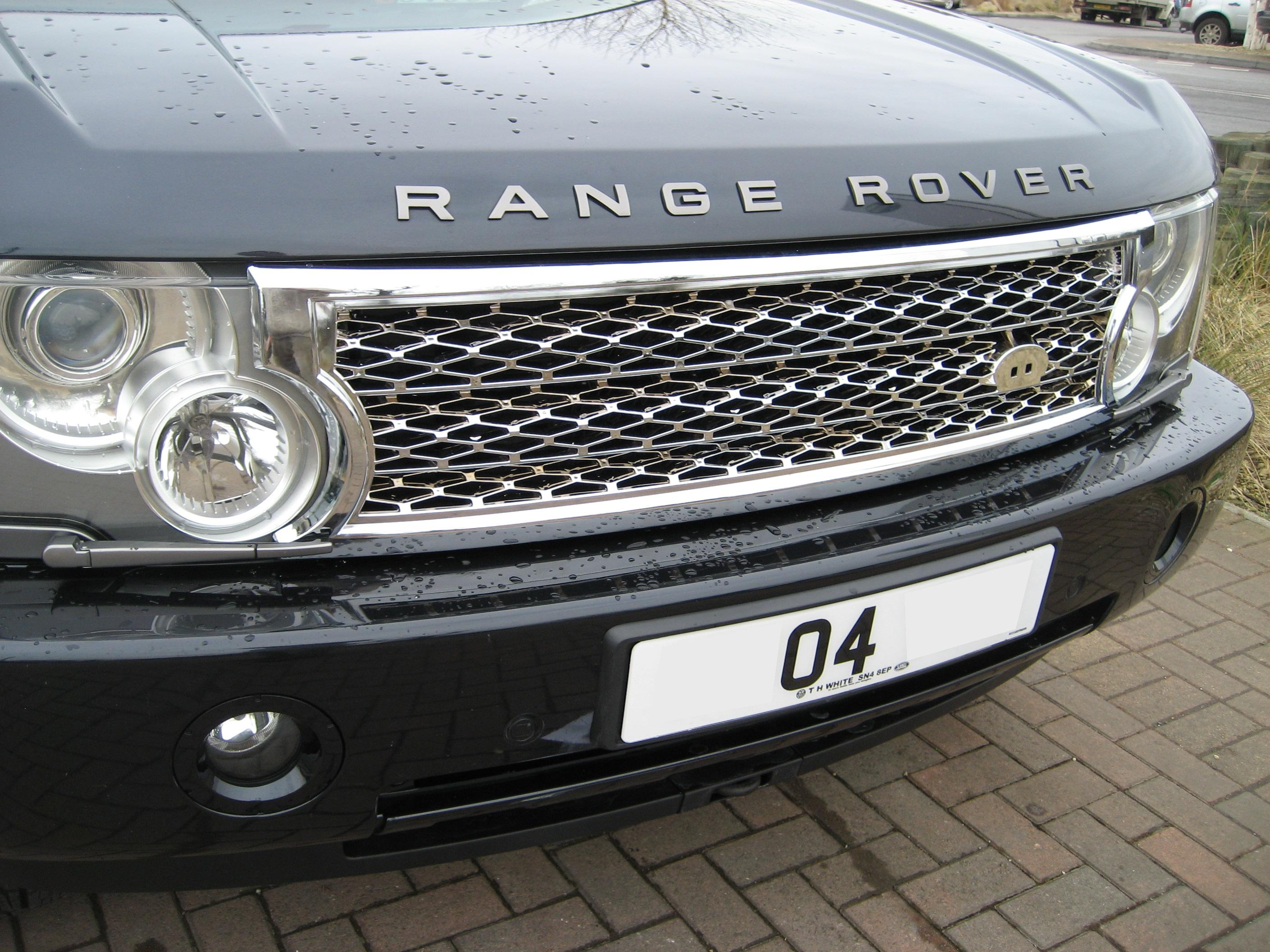 chrome supercharged grille conversion kit for range rover. Black Bedroom Furniture Sets. Home Design Ideas