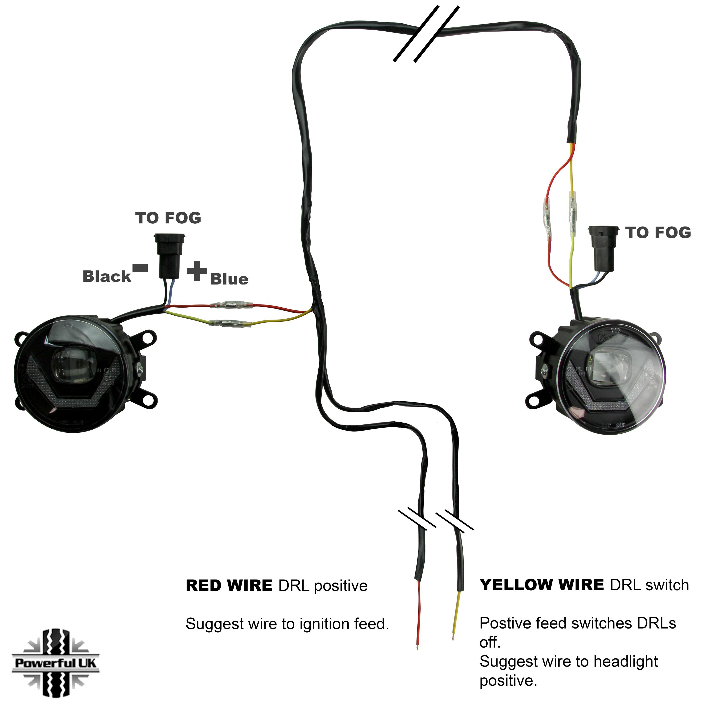 2in1 led front bumper fog drl lamp light for range rover