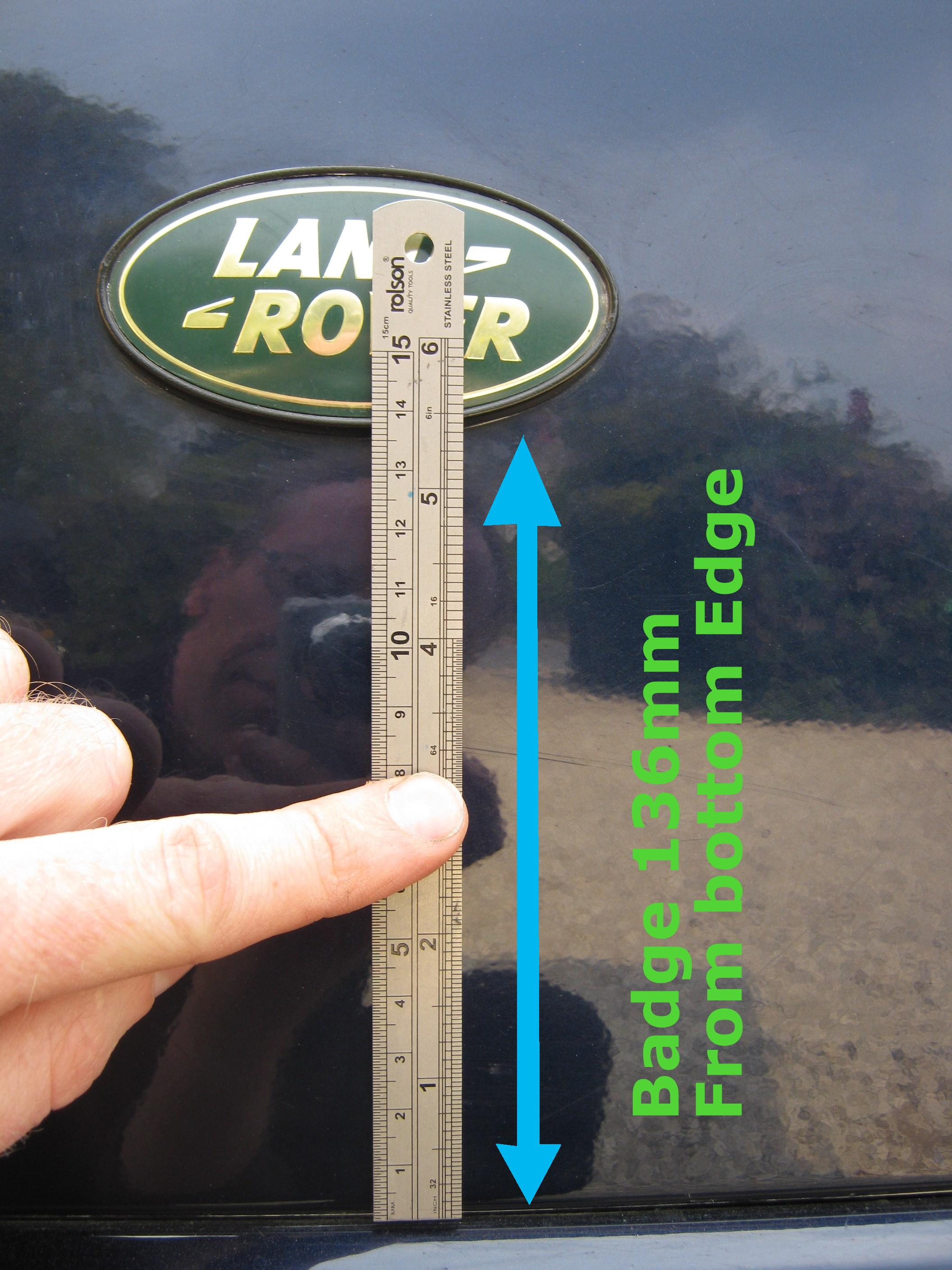 Black Silver Land Rover Oval Badge