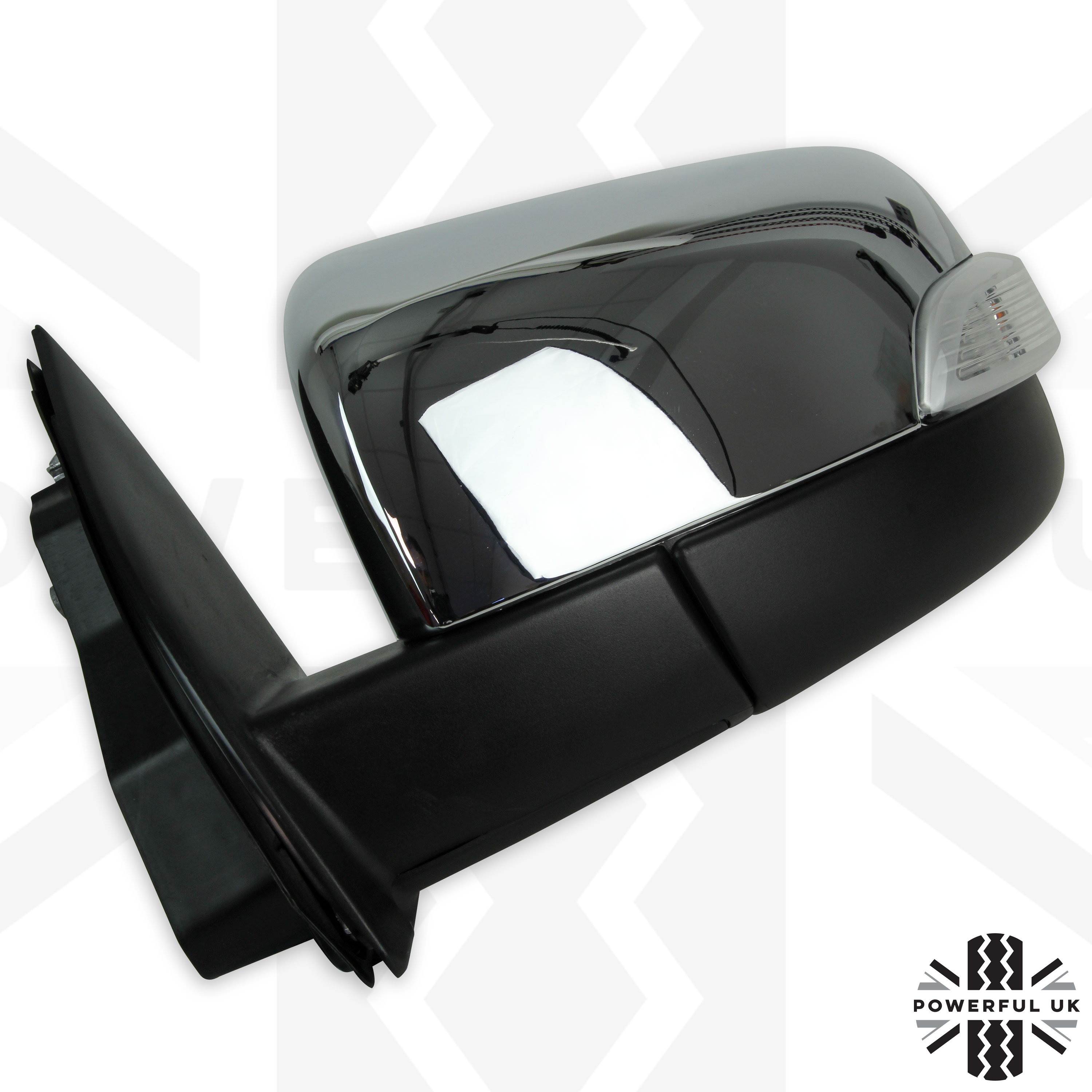 Electric adjust wing//door mirror Ford Ranger pickup chrome RIGHT offside T6 T7