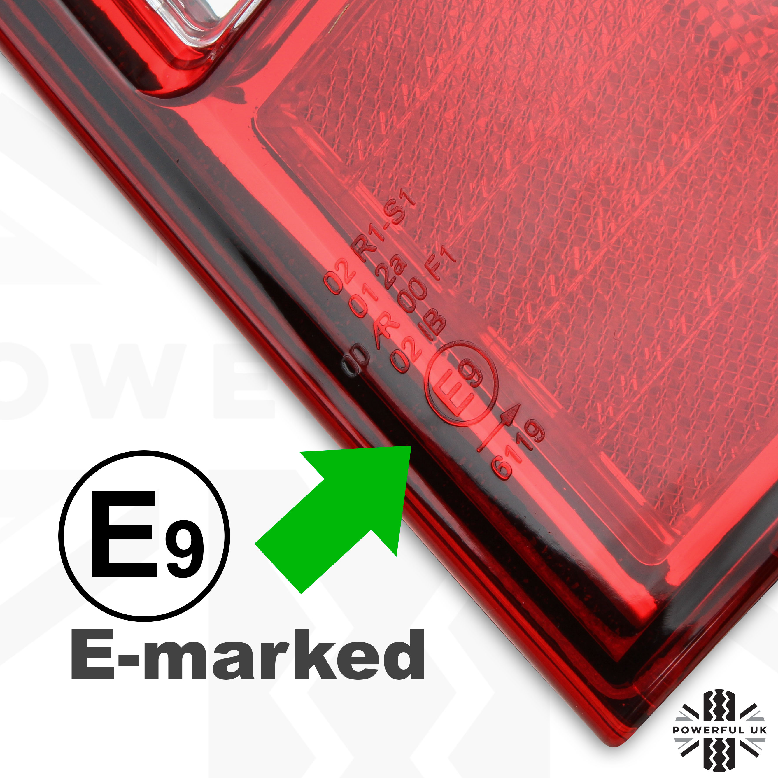 Pair Rear Tail Lights For Ford Ranger Lamp O  S N  S Uk Red