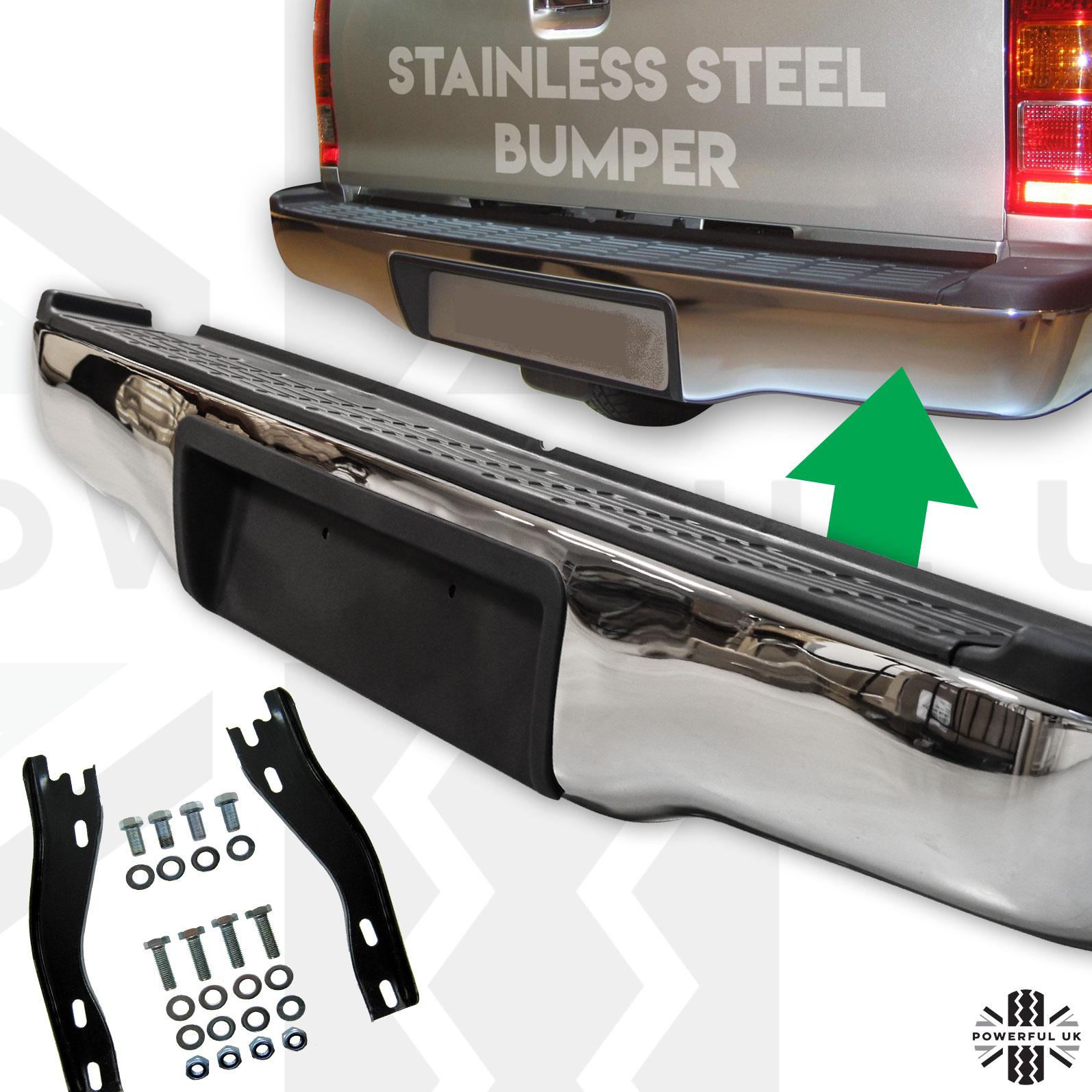 NEW 05-15 Hilux Vigo Mk6//Mk7 Rear Stainless Steel Bumper With Brackets