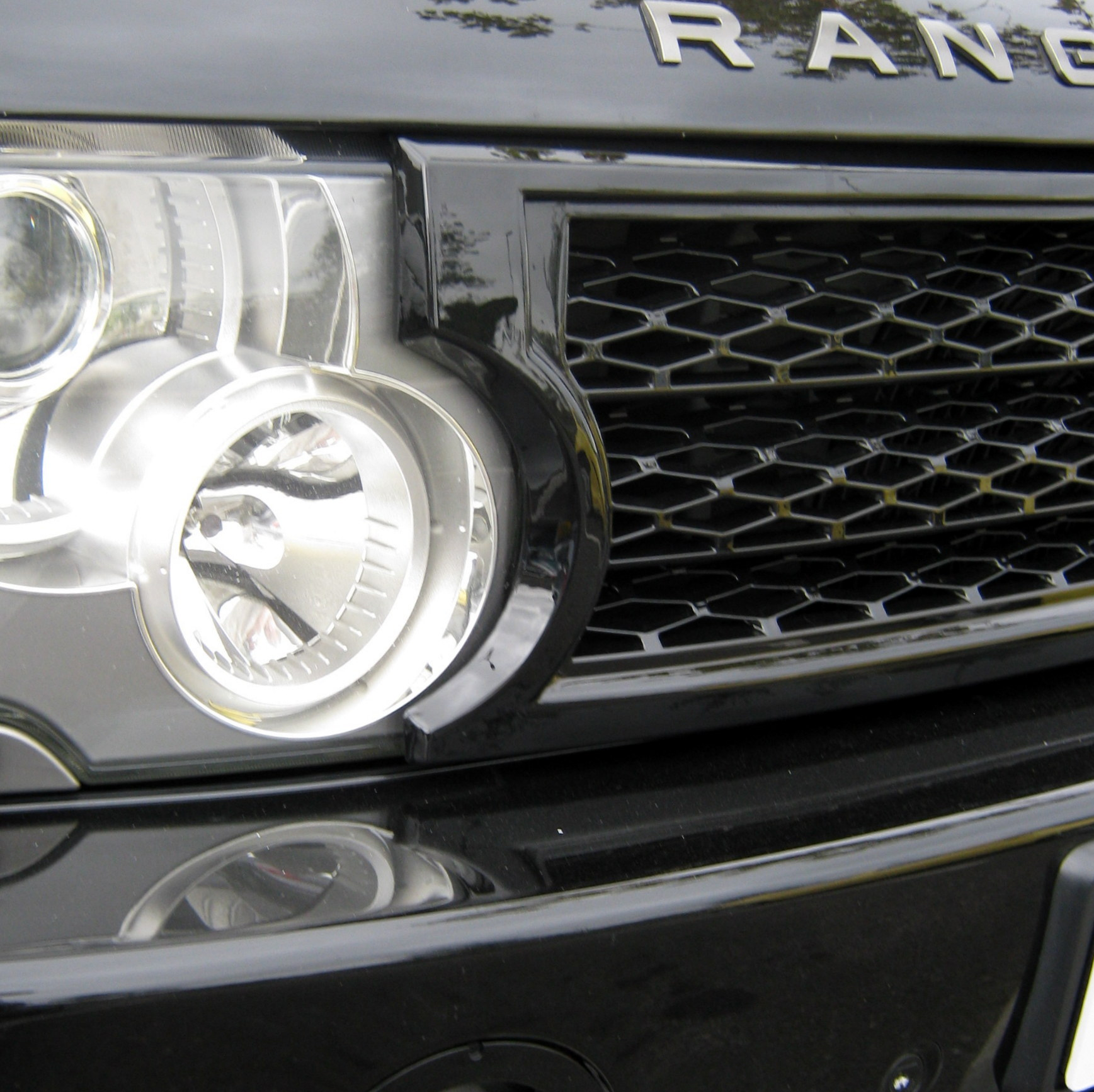 Black Supercharged Conversion Grille Kit For Range Rover L322 03 05