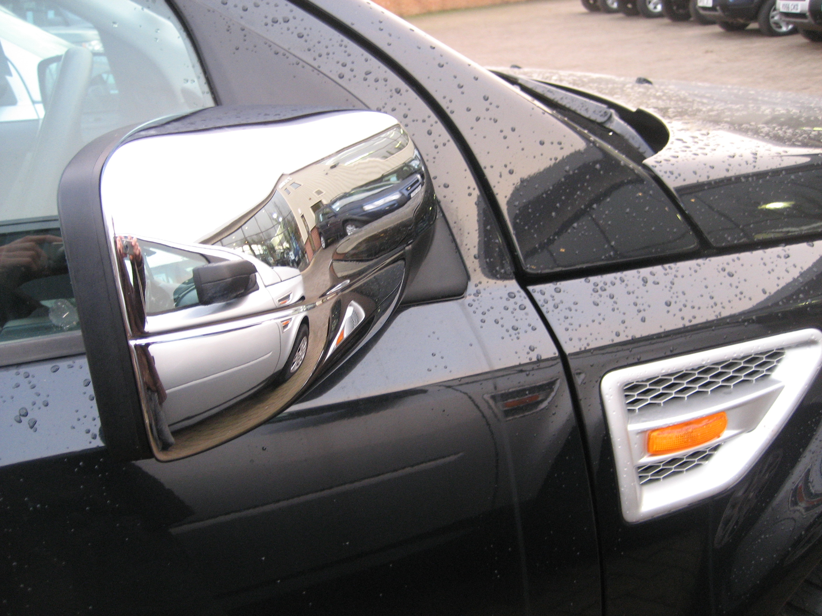chrome full door wing mirror covers for land rover freelander 2 lr2 accessories ebay. Black Bedroom Furniture Sets. Home Design Ideas