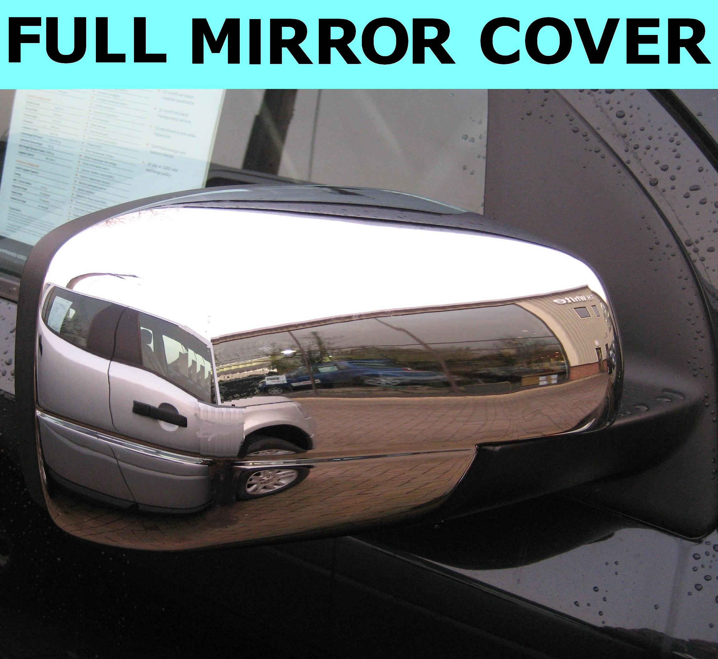 Chrome FULL Door Wing MIRROR COVERS For Land Rover
