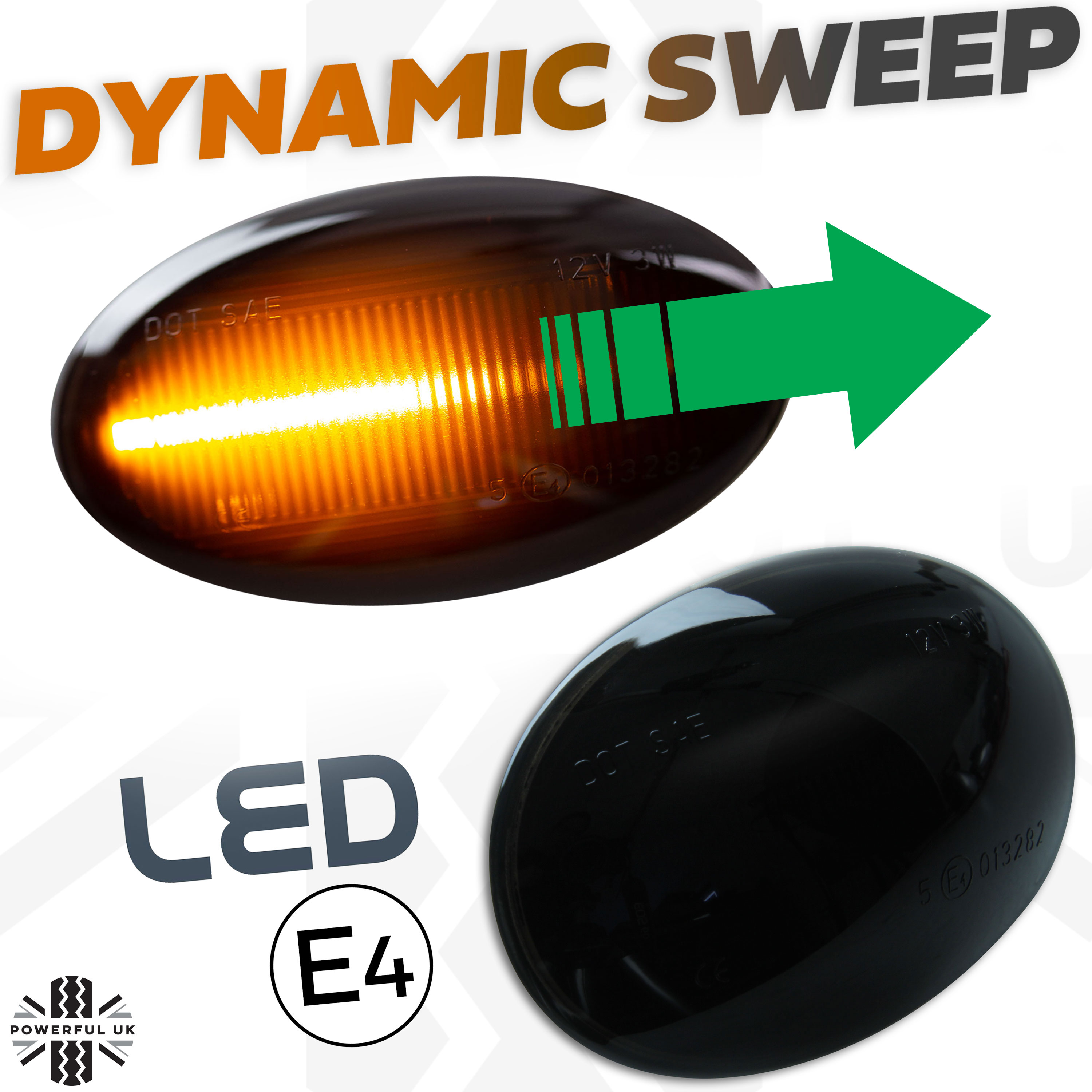 Dynamic LED Side Repeater Lights Indicator MINI R55 R56 R57 R58 R59 LUXFACTORY