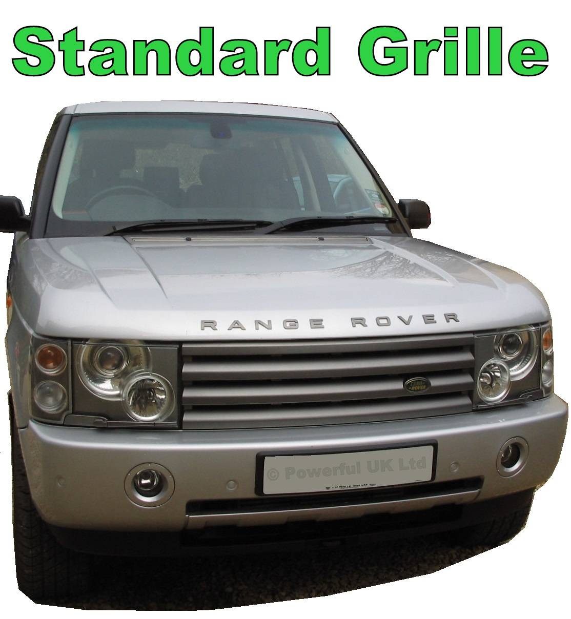 SUPERCHARGED Style Front GRILLE For RangeRover L322 Vogue