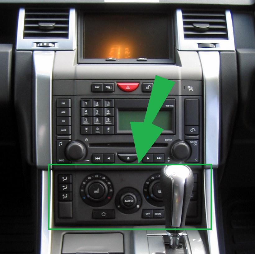 2002 Land Rover Range Rover Interior: Gloss Black Heater & Aircon Interior Fascia Panel Range