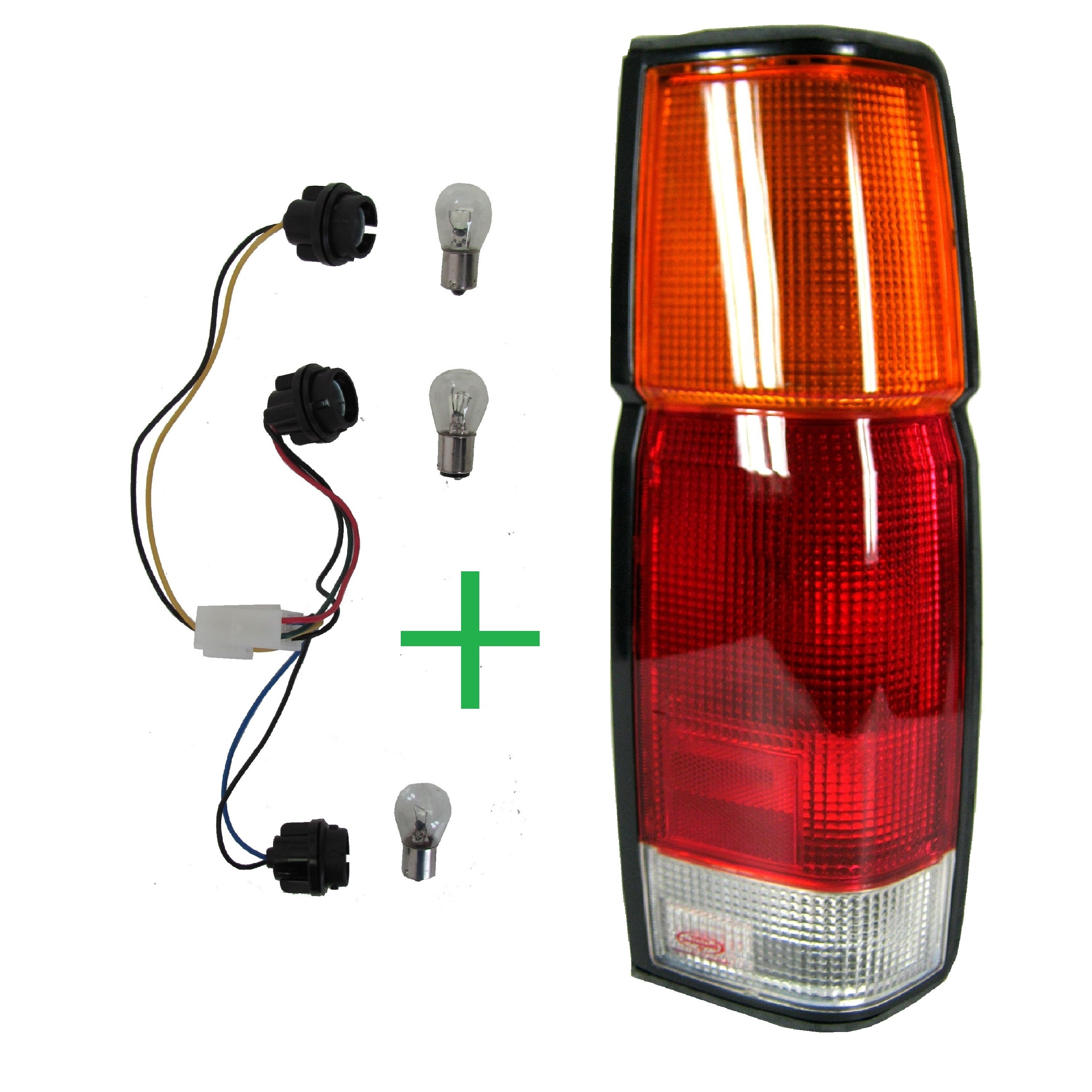 RH//OS Without Bulb Holder Rear Tail Light Lamp Lens