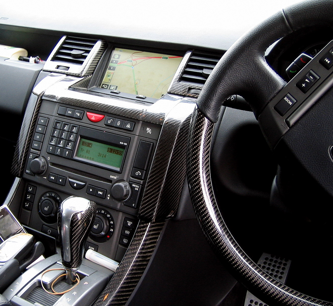 Black Carbon Fiber Fibre Interior Dash Air Vent Kit Range