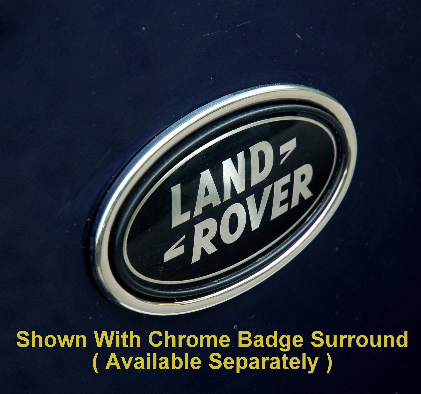 Purchase Used 2003 Land Rover Discovery Se Se 7 Sport: Range Rover P38 BLACK+SILVER Oval Rear LAND ROVER Badge