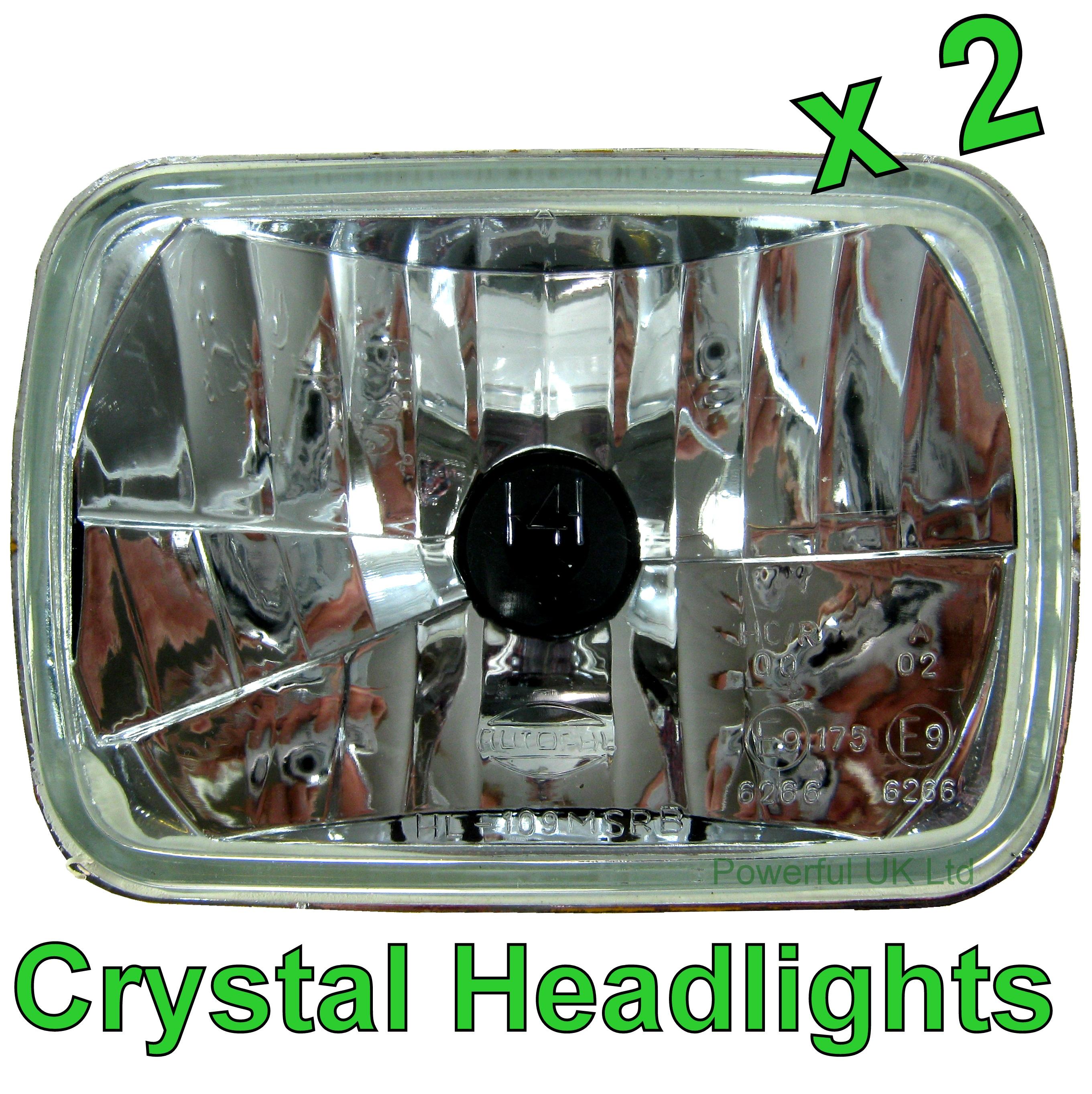 Crystal Halogen Headlamp Conversion kit RHD (PAIR). Isuzu Pickup / Vauxhall  Brava Pickup