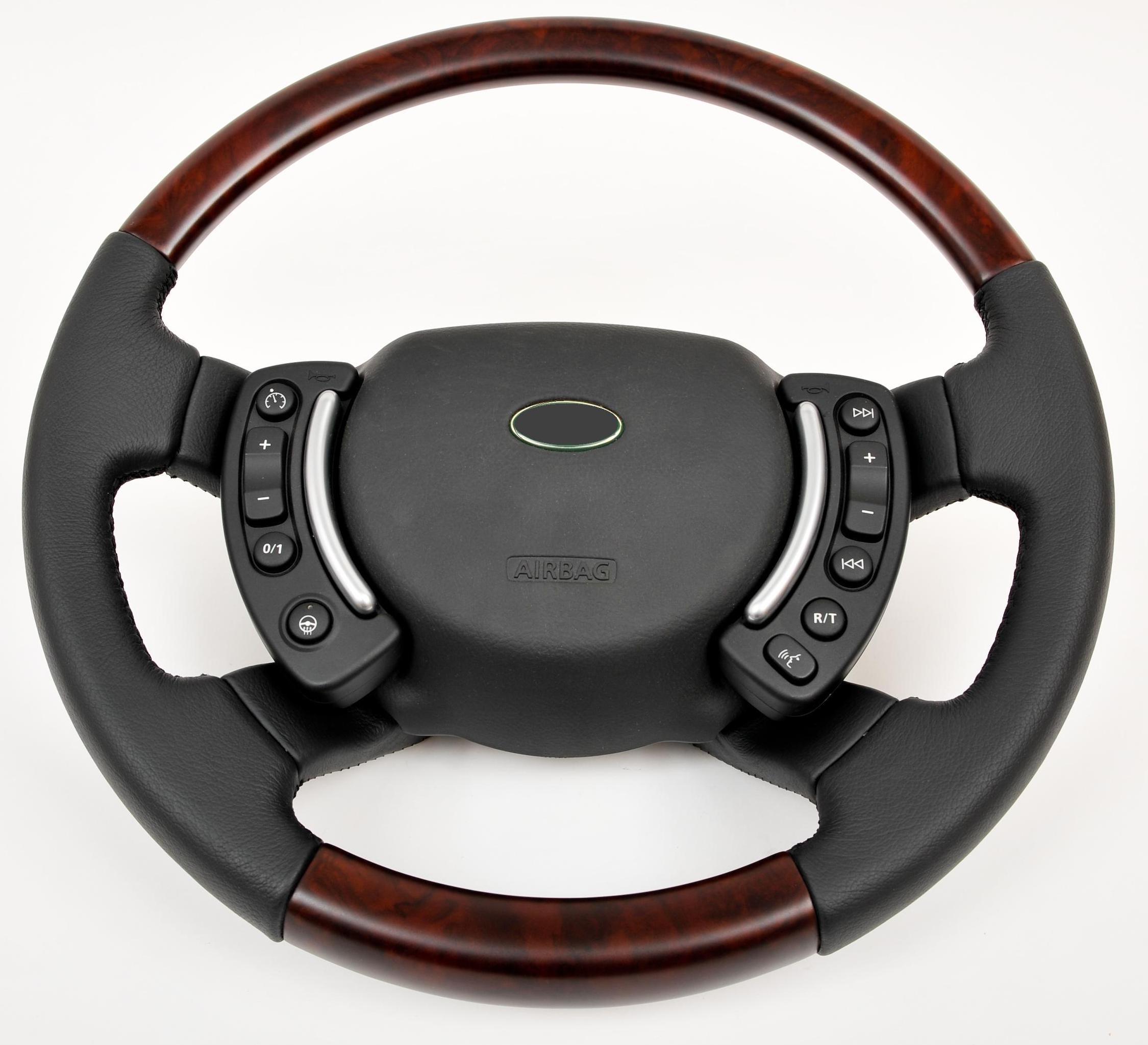 Steering Wheel Walnut & Nappa Leather Range Rover L322