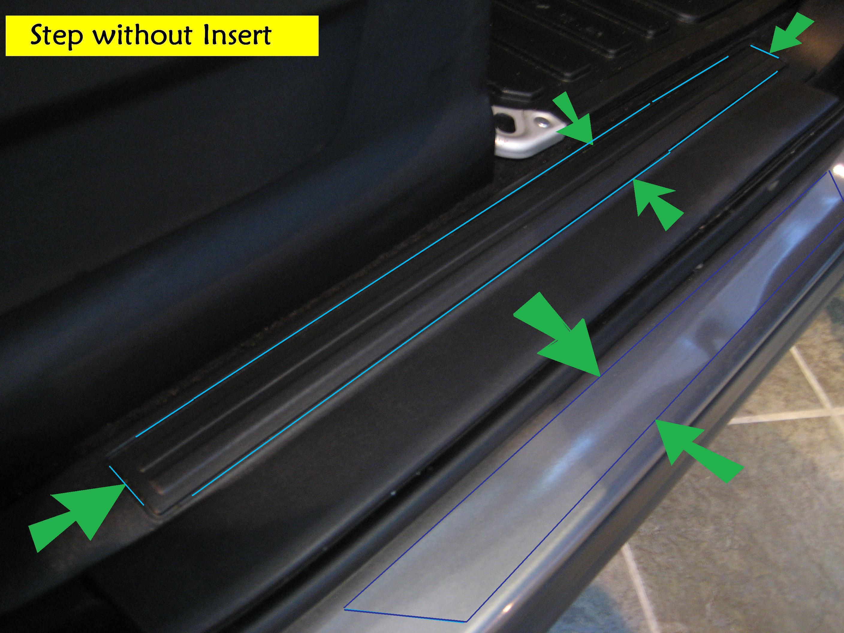 Sill tread plate door scuff kick kit for range rover sport for Sill plate definition