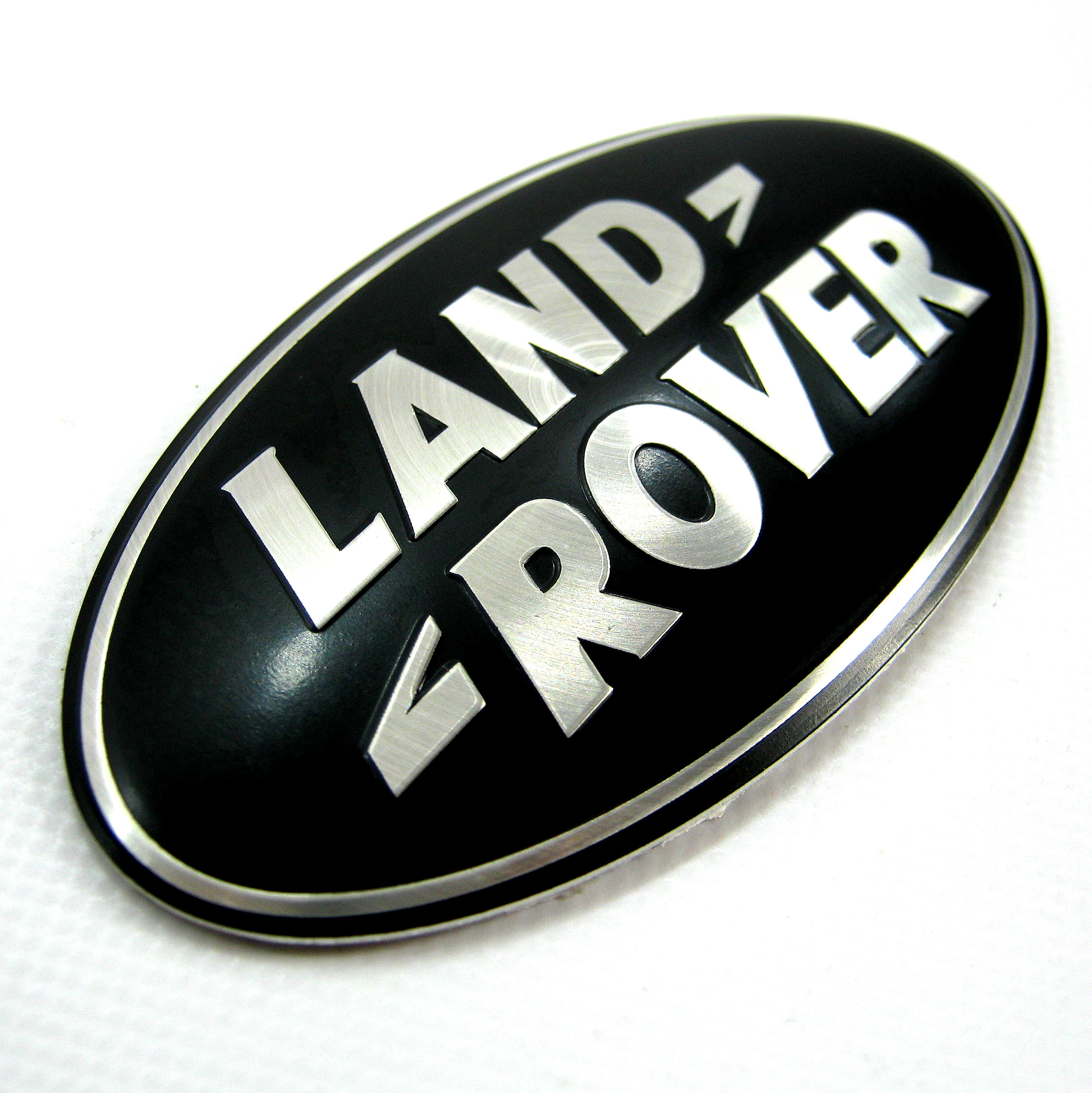 Land Rover Freelander 1 Black Silver Rear Door Badge Oval