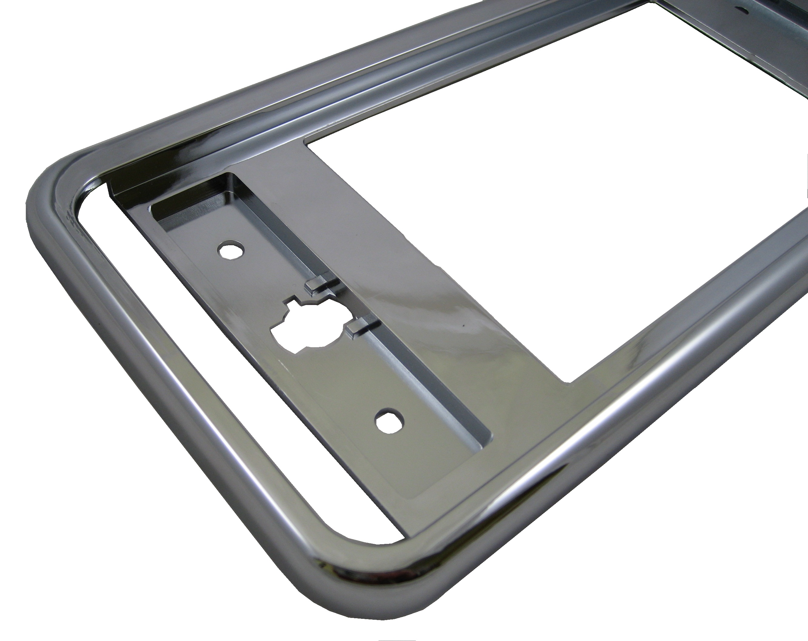 Chrome number plate frame surrounds Land Rover Discovery 3 4 LR3 LR4 ...