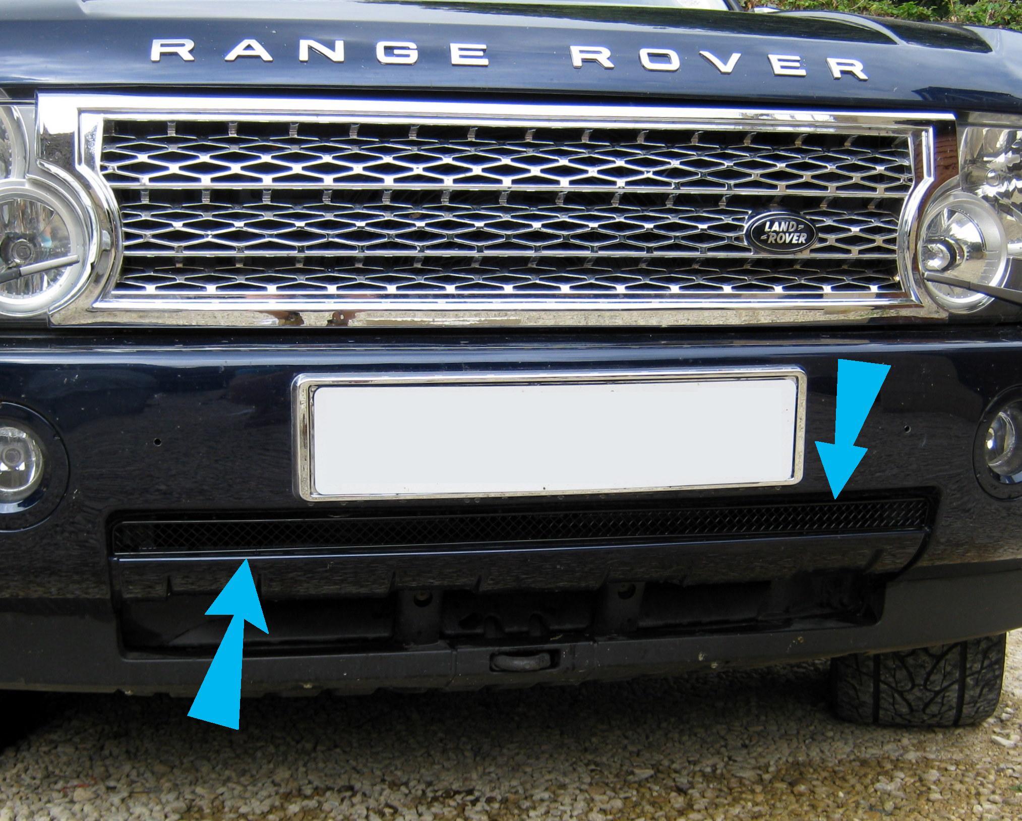 black lower mesh protection grille for range rover l322. Black Bedroom Furniture Sets. Home Design Ideas