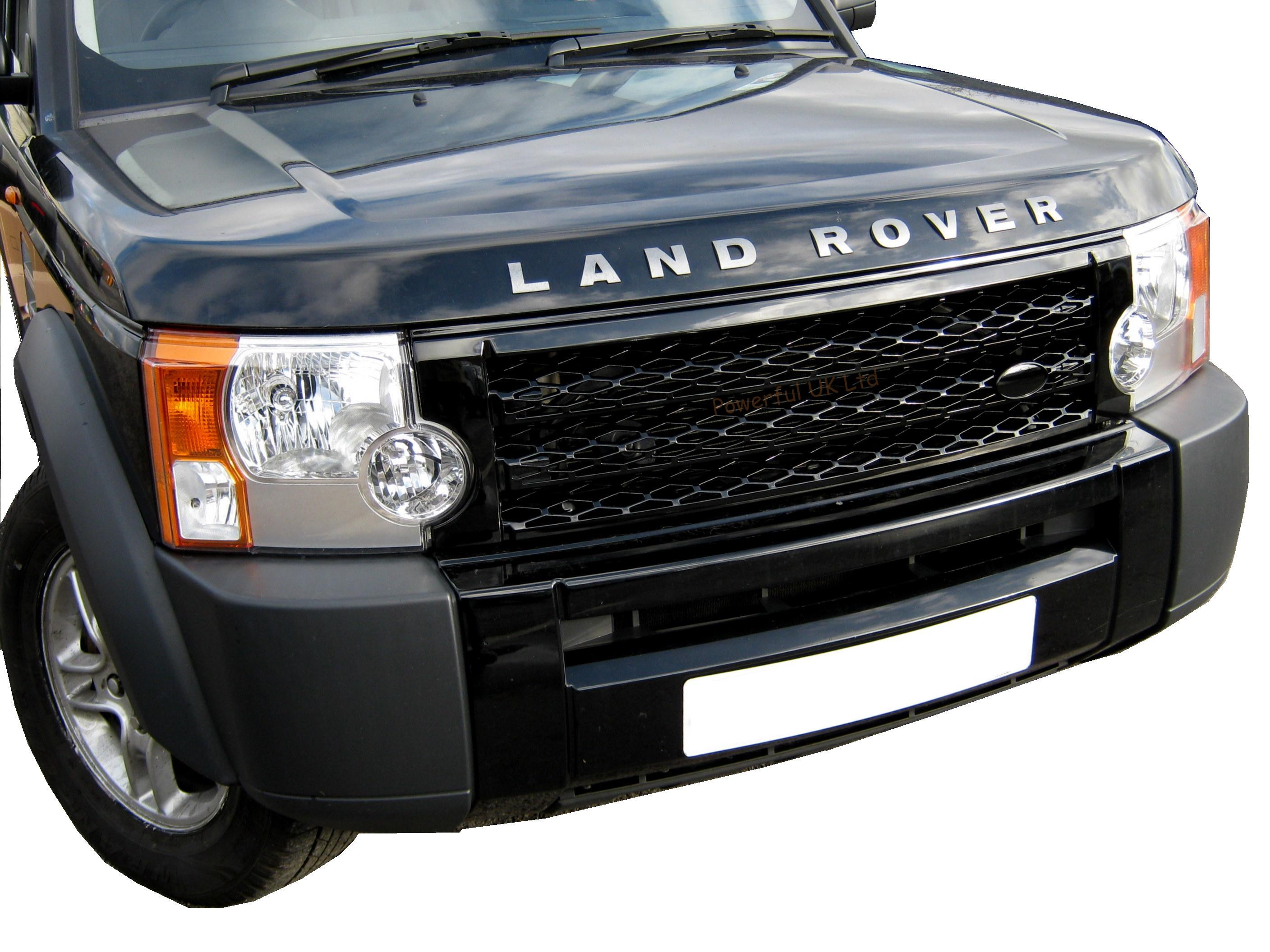 Black Supercharged front grille for Land Rover Discovery 3 ...