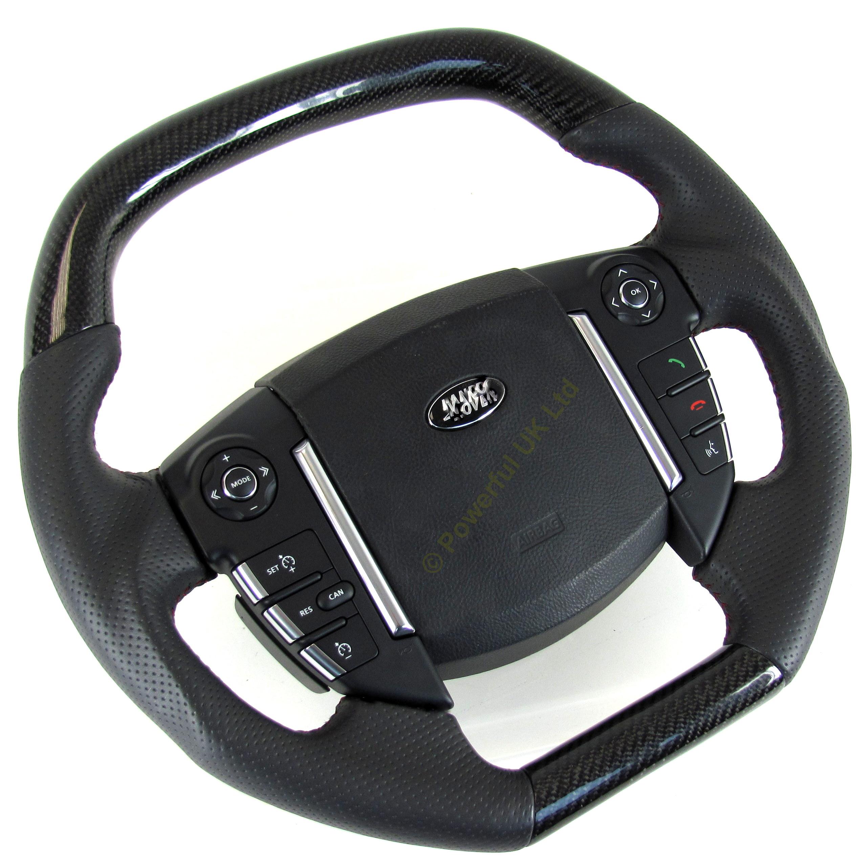 Steering Wheel Black Carbon Fibre Fiber Range Rover Sport