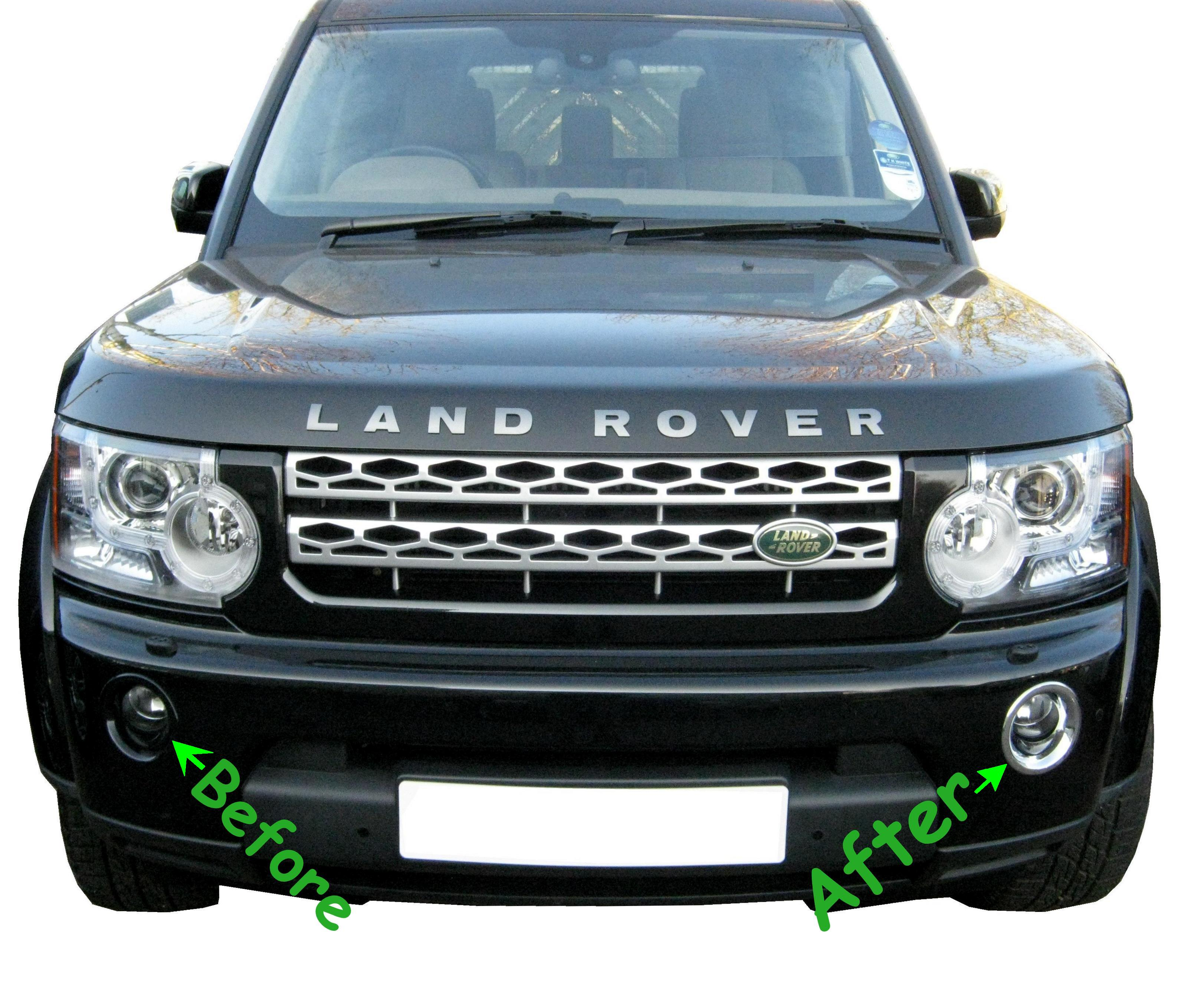Front Bumper Chrome FOG LIGHT Lamp Surround For Land Rover