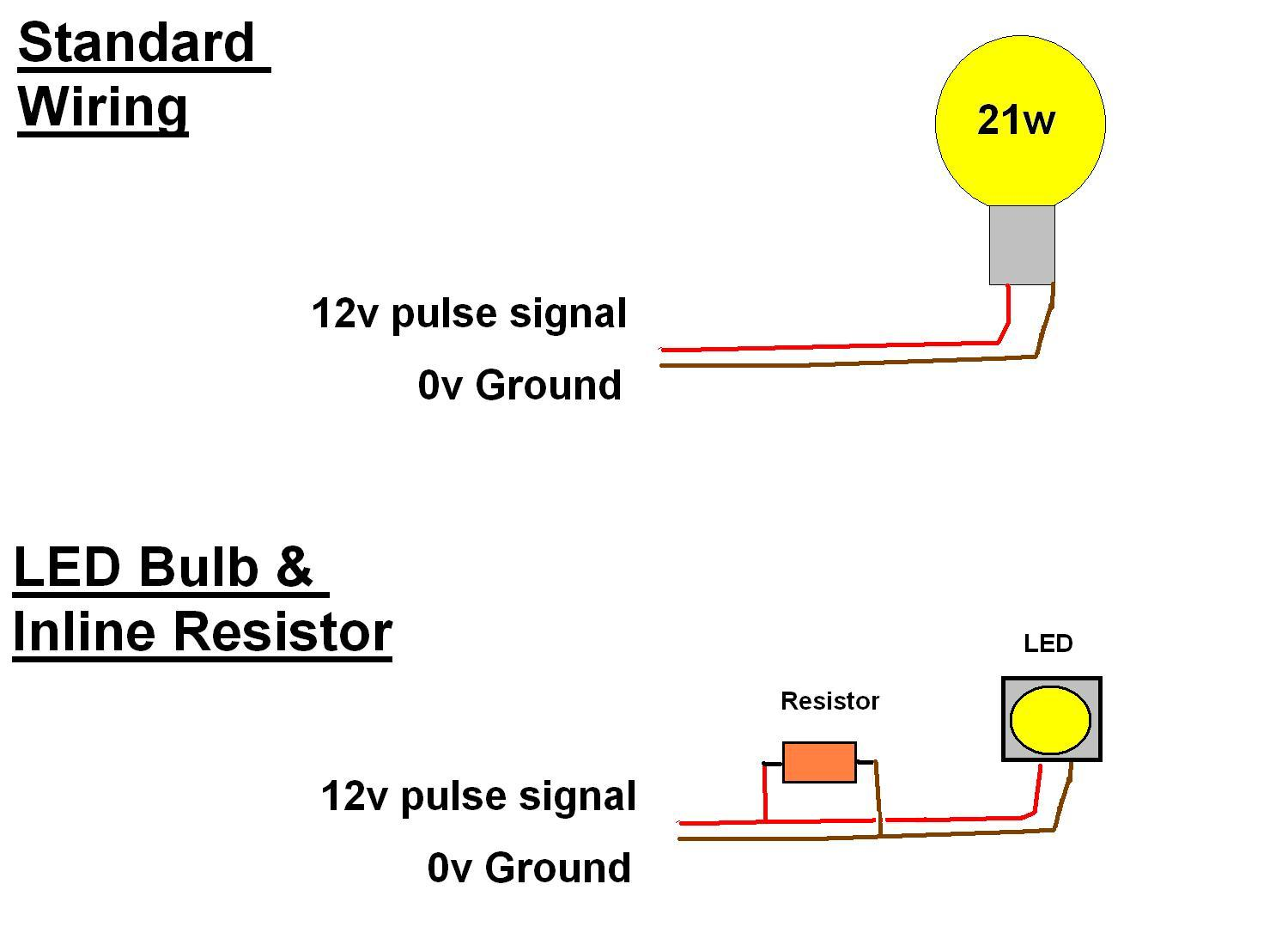 led resistor wiring diagram turn signal bulb best wiring library