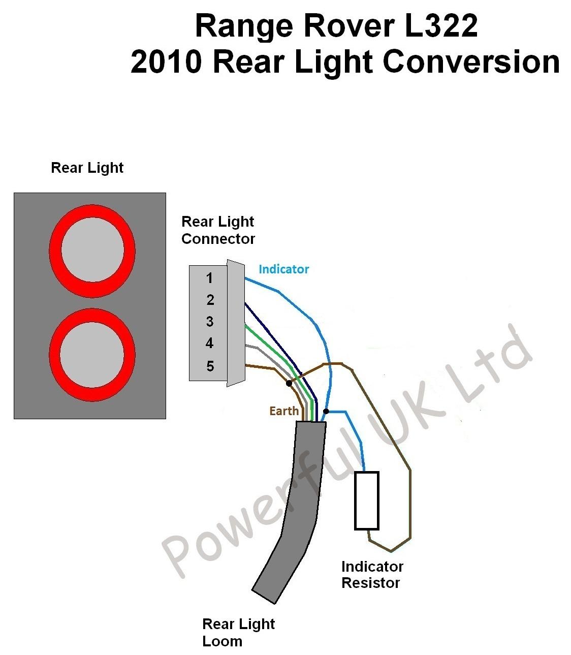 Radio Wiring Harness Diagram For L322 Rover Led Rear Light Ballast Resistors X2 Range 2010 Rh Ebay Co Uk Chevy Factory