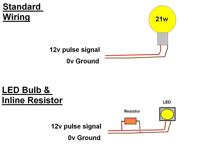 Auto Led Indicator Light Wiring Diagram Schematic Diagrams Resistors Automotive U2022 12v