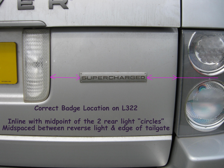 Genuine SUPERCHARGED badge Range Rover L322 GCAT logo | eBay