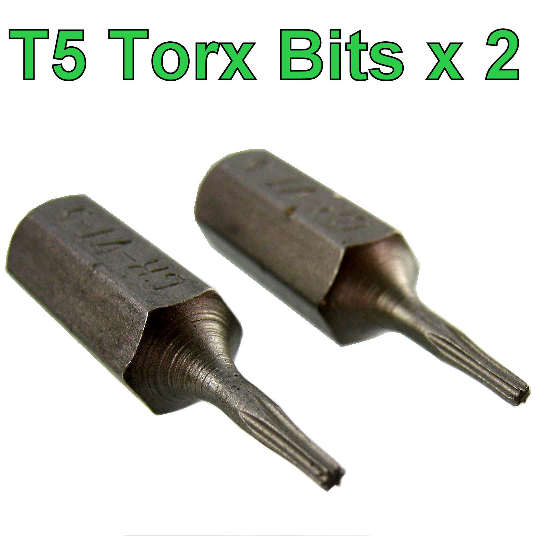 Fantastisk Torx T5 Screw driver Bit 2 pack Tx5 socket star scredriver BO22