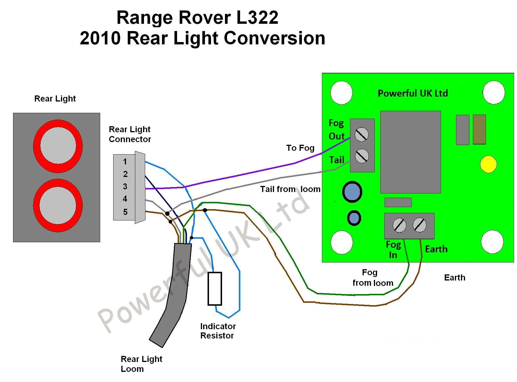 Rover Fog Lights Wiring Diagram : Led fog light flash fix for range rover l ebay
