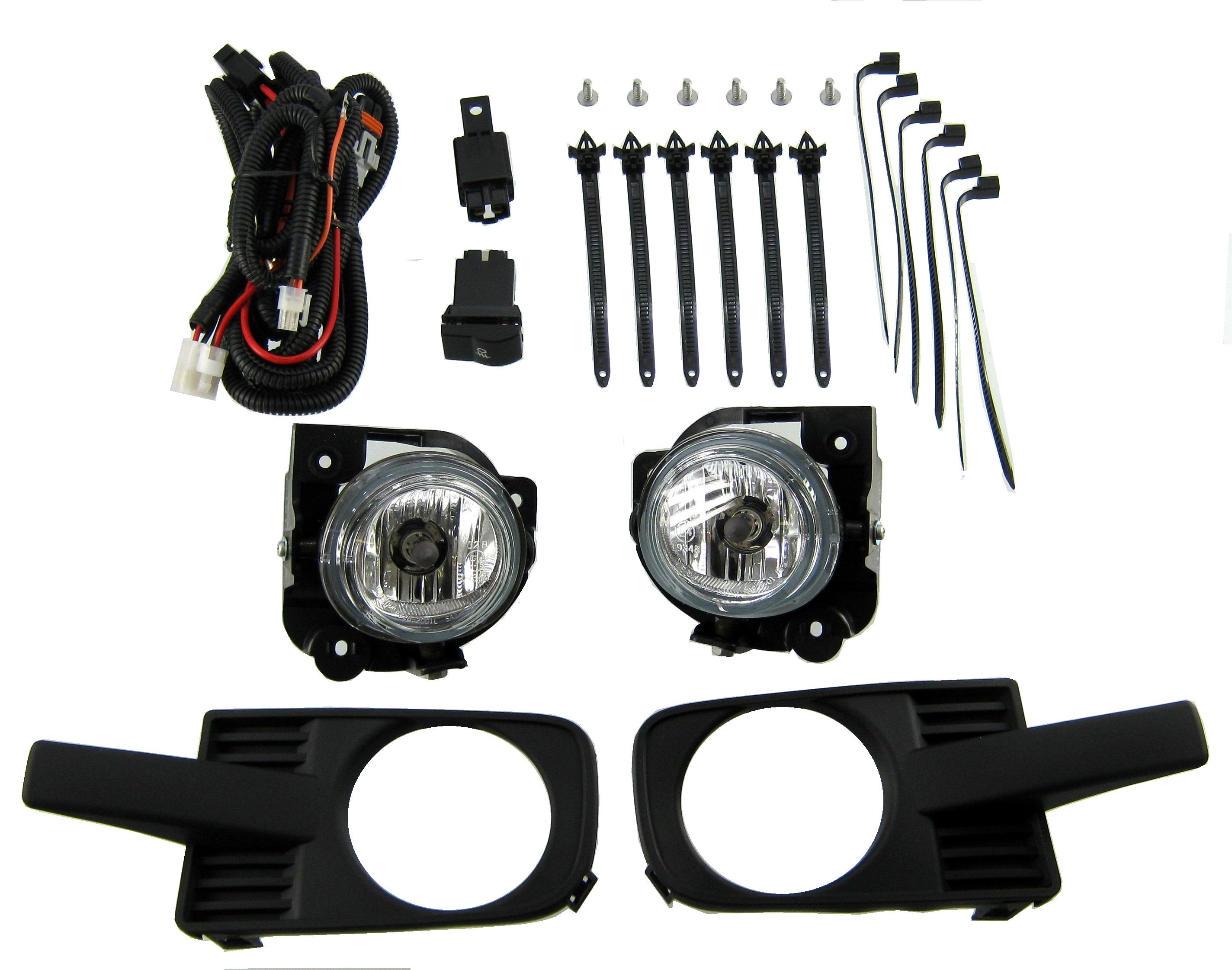 Full Fog Light Kit Including Lights Wiring Ford Ranger 2006 On