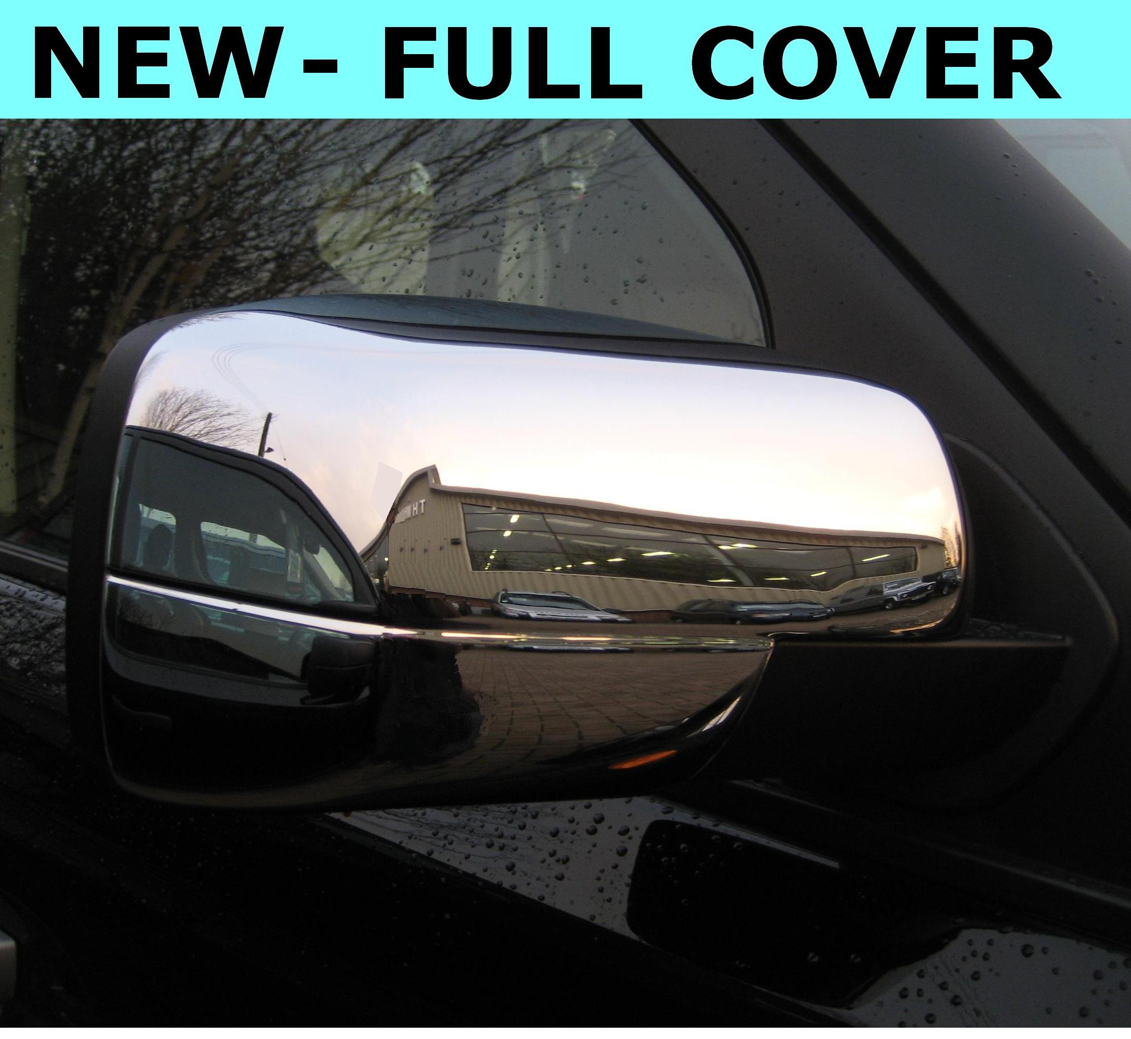 Chrome FULL Door MIRROR COVERS For Landrover Freelander 2