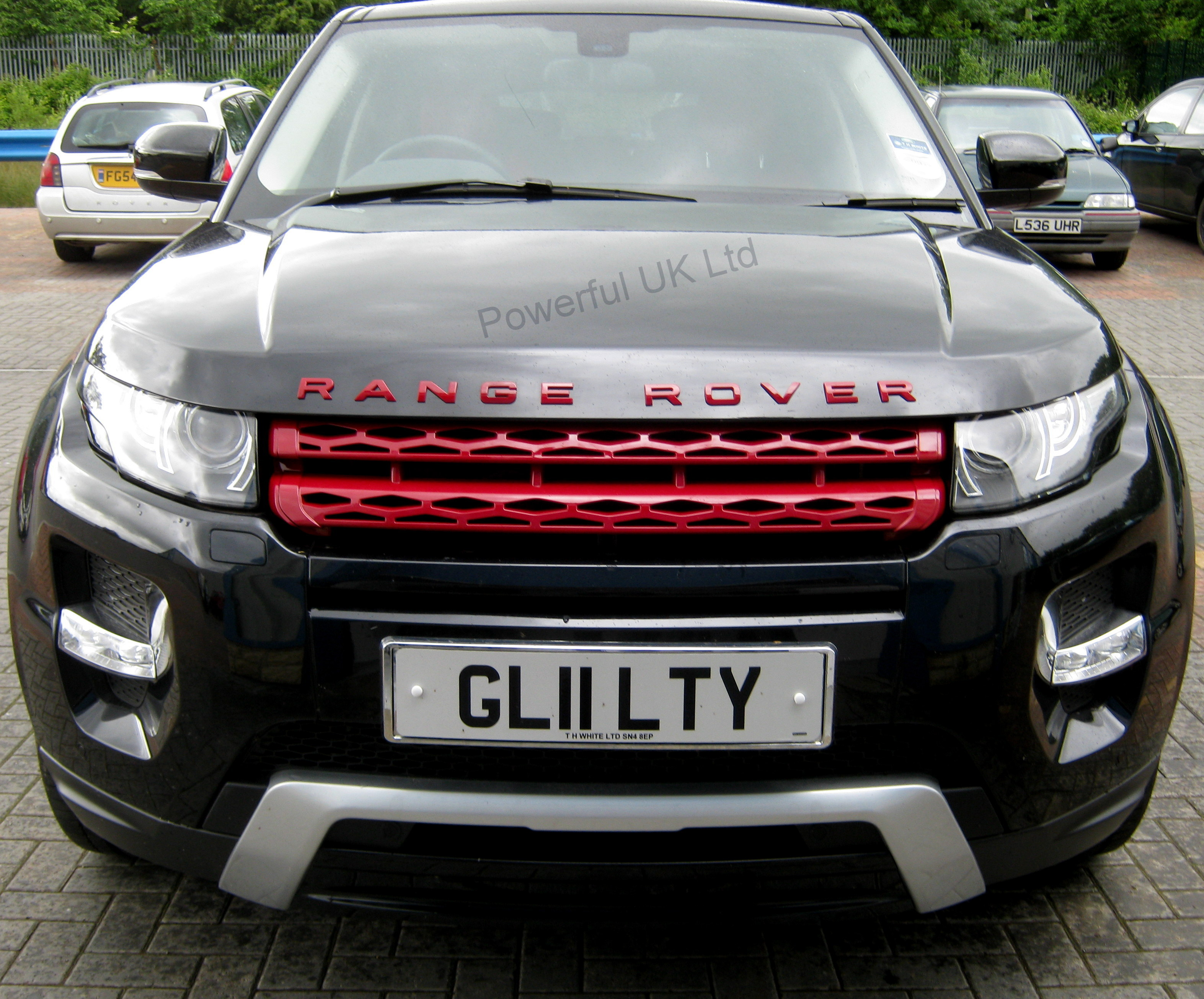 red front grille upgrade for range rover evoque pure dynamic prestige 3 5 door ebay. Black Bedroom Furniture Sets. Home Design Ideas