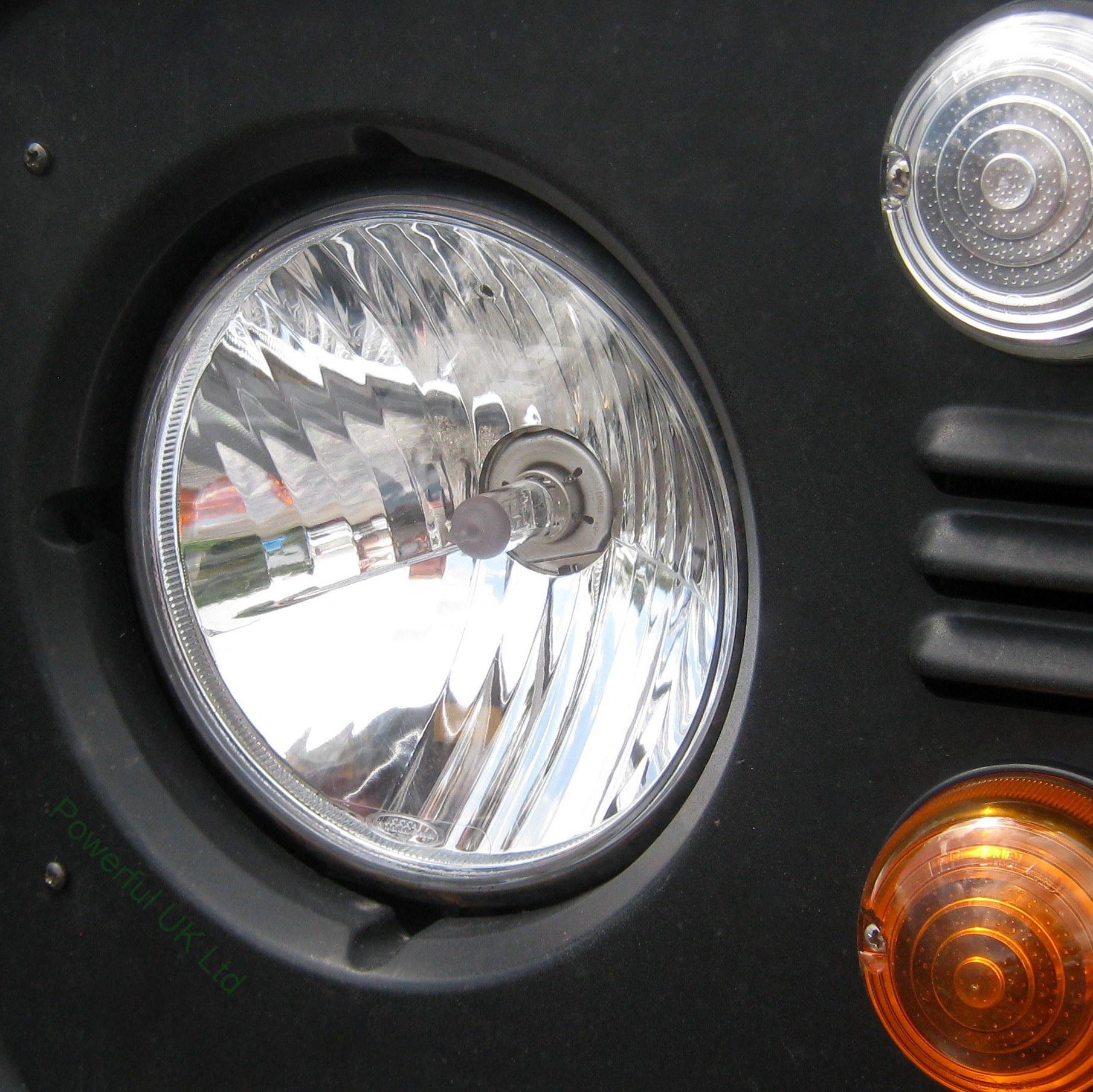 Details about Crystal Halogen Headlight Upgrade Kit Land Rover Defender 90  110 H4 quadoptic
