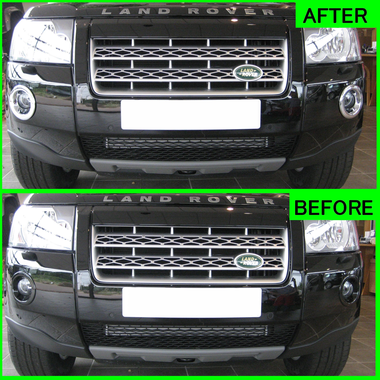 Chrome Fog Lamp Bezels For Land Rover Freelander 2 Front