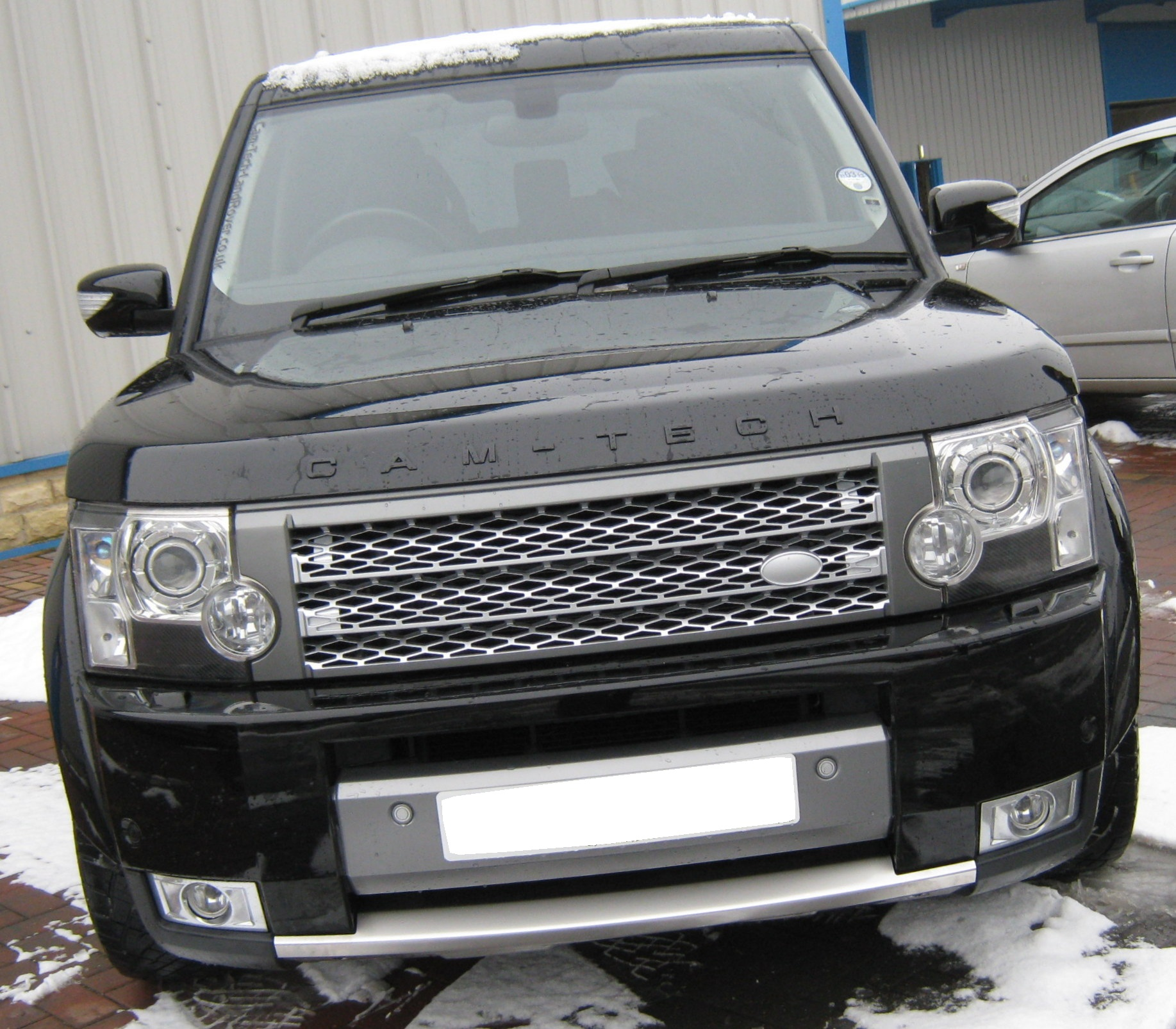 Supercharged Style Front Grille Silver Grey Land Rover