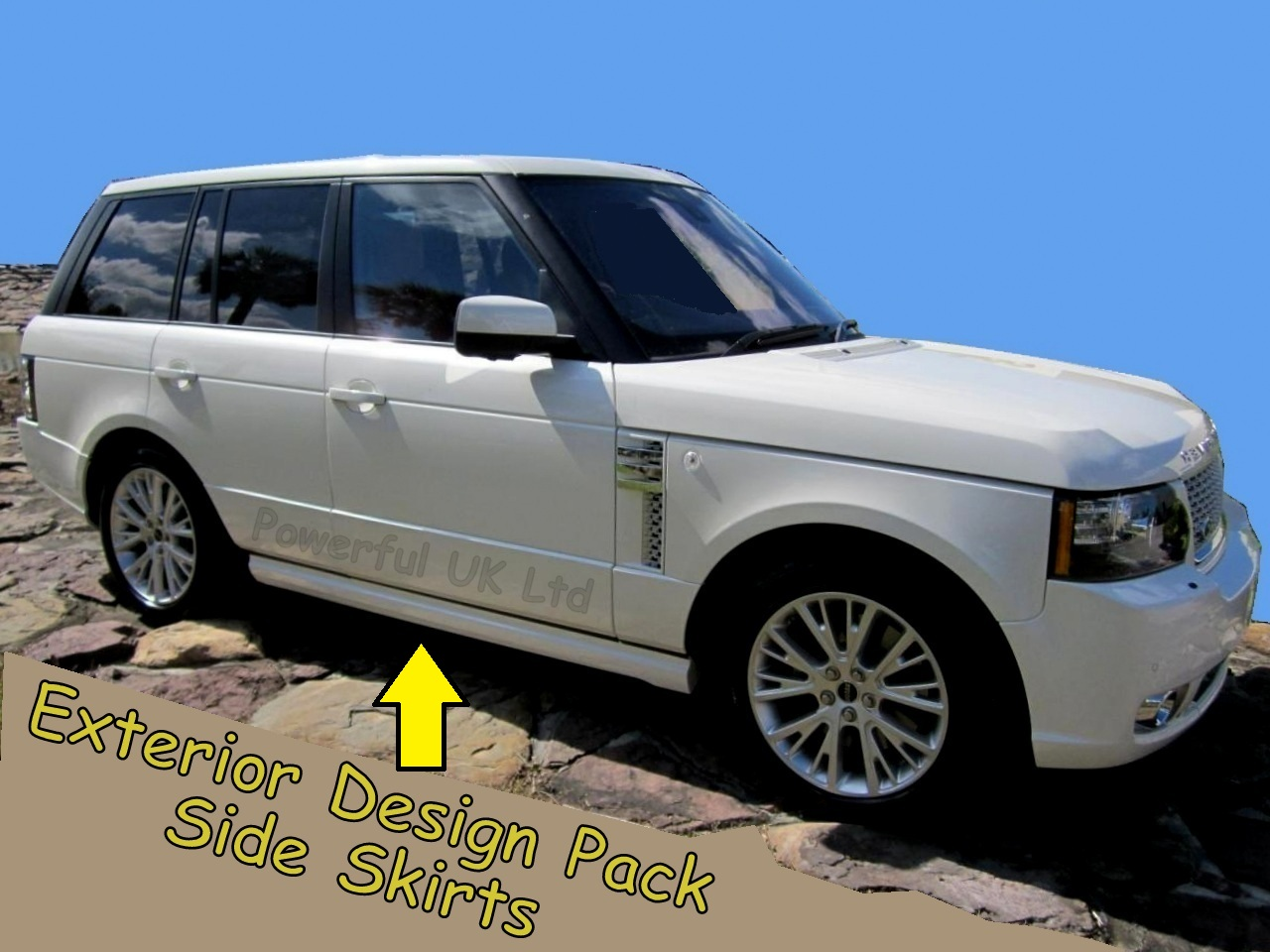 side skirts pair range rover l322 exterior design pack