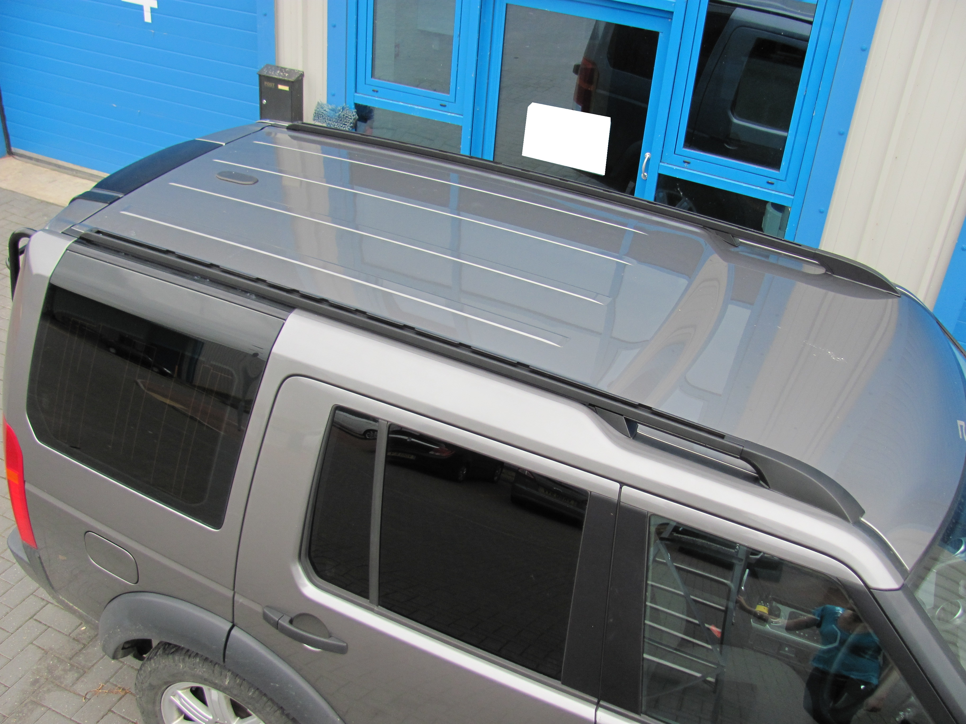 Black Extended Roof Rack Land Rover Discovery 3 4 Rails