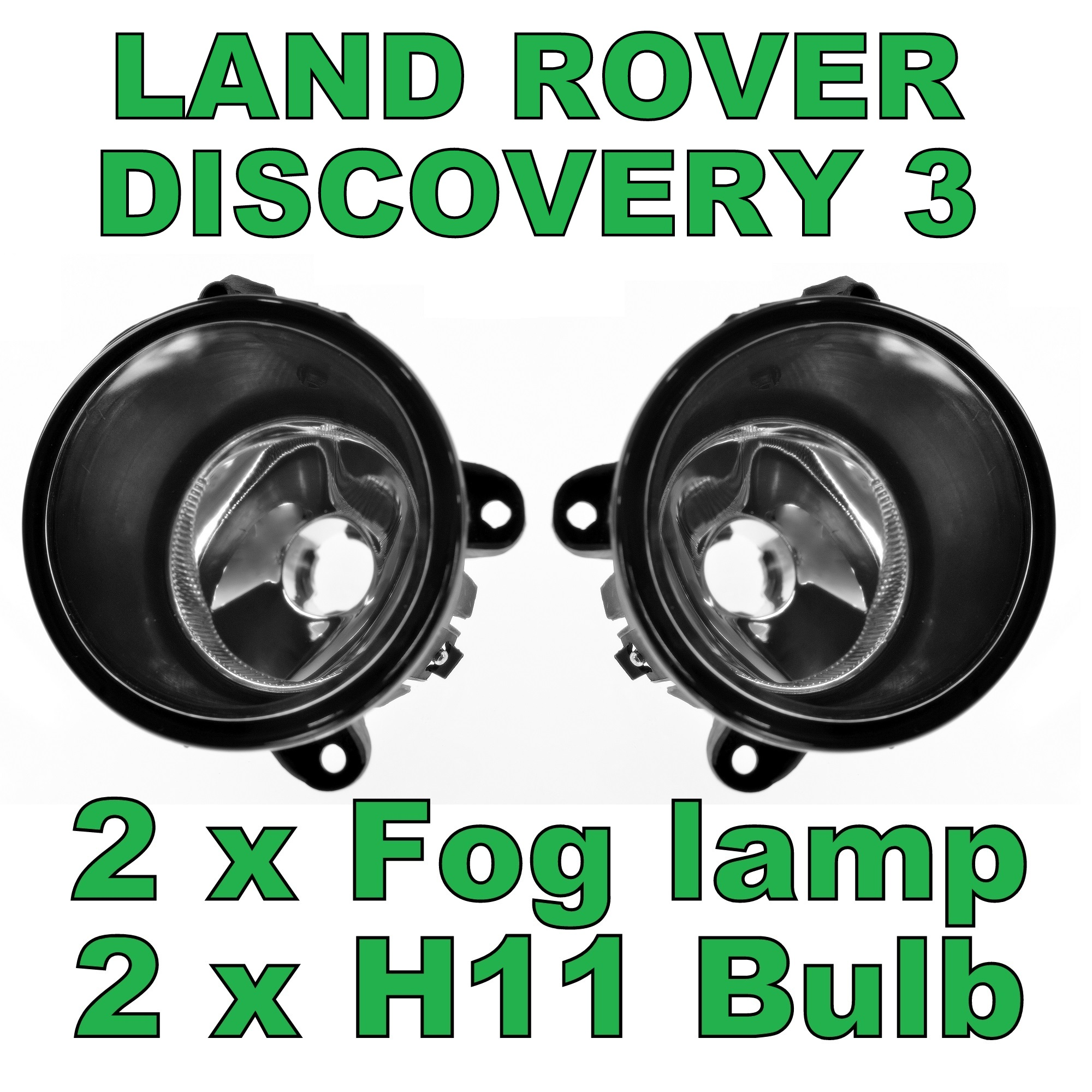 Pair Of Clear Front Indicator Lights For Land Rover: PAIR OF FRONT Bumper Fog Lamp Light For Land Rover