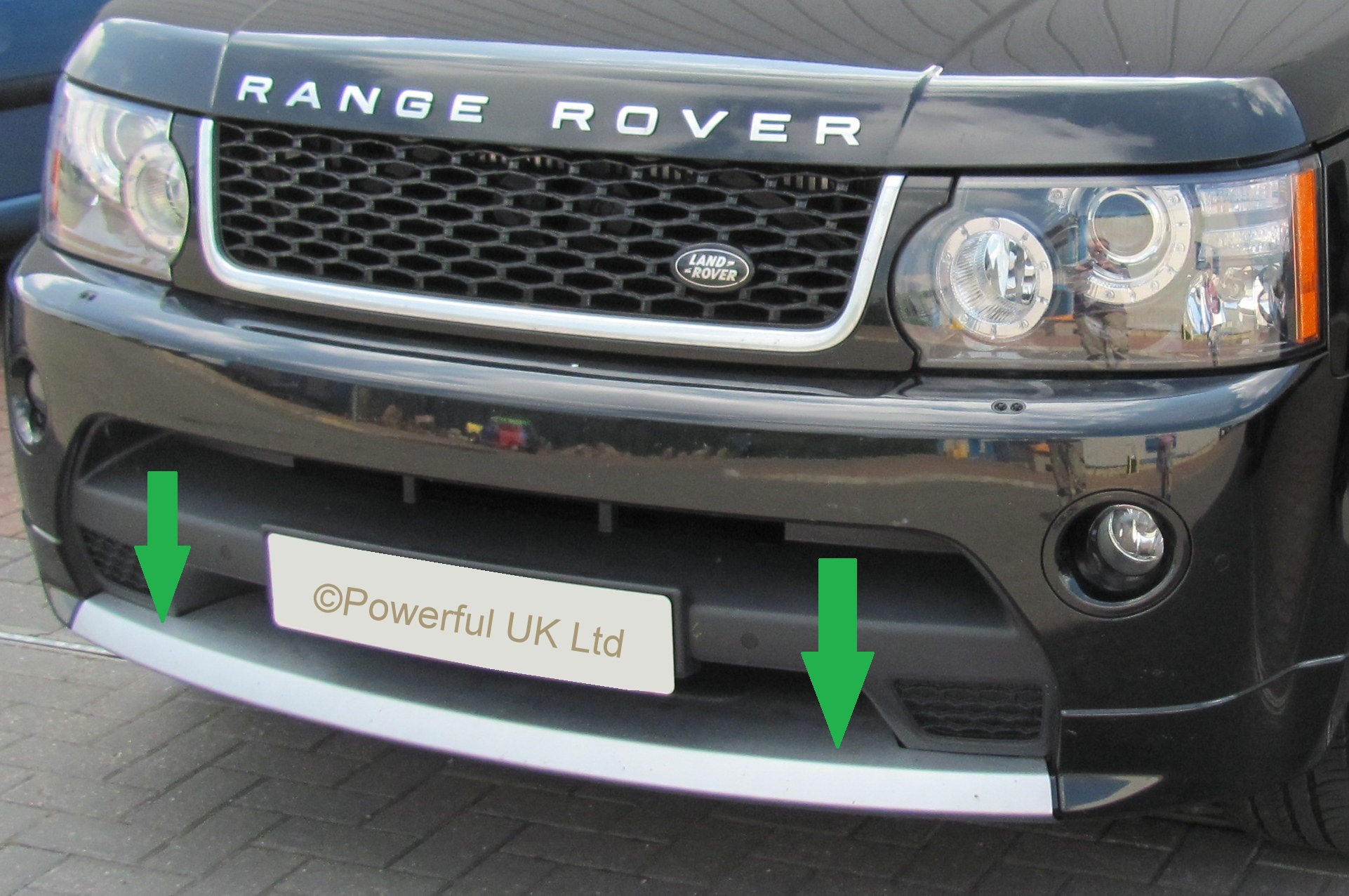 tow eye cover spliter lip spoiler range rover sport. Black Bedroom Furniture Sets. Home Design Ideas