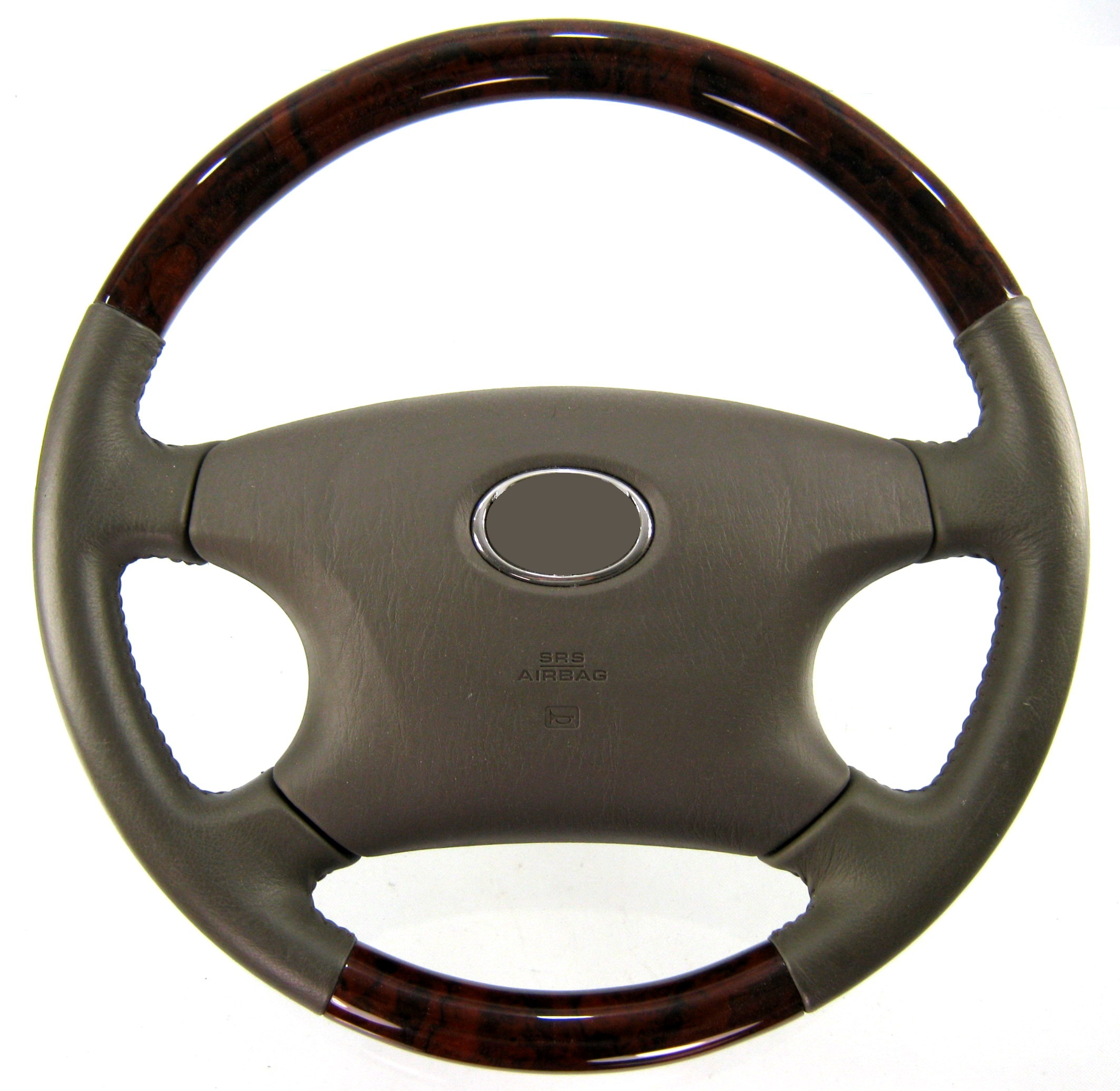 Walnut wood effect leather steering wheel for toyota hilux for Benetton 4 wheel steering