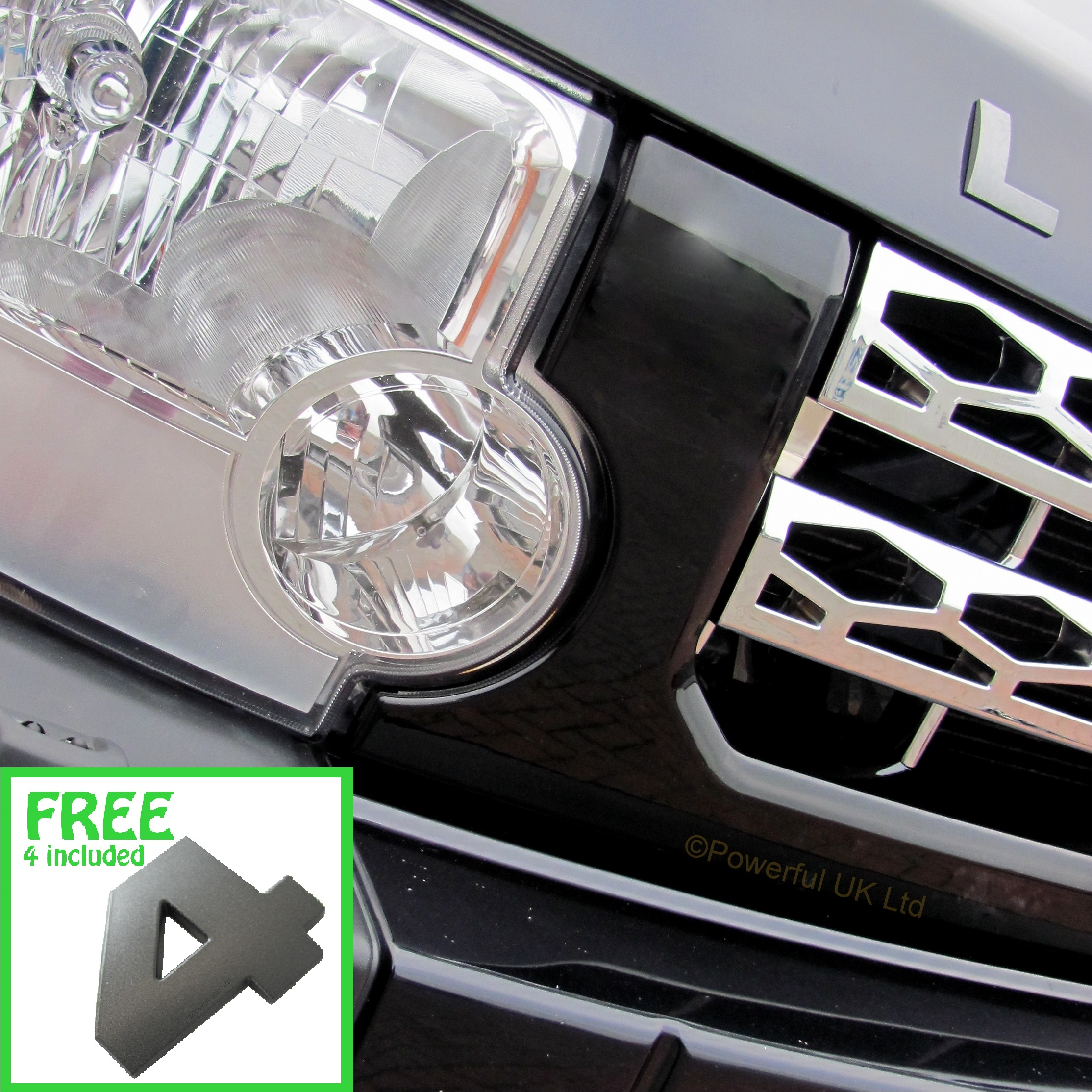 Java Black+Chrome Disco 4 Style Grille Conversion For Land