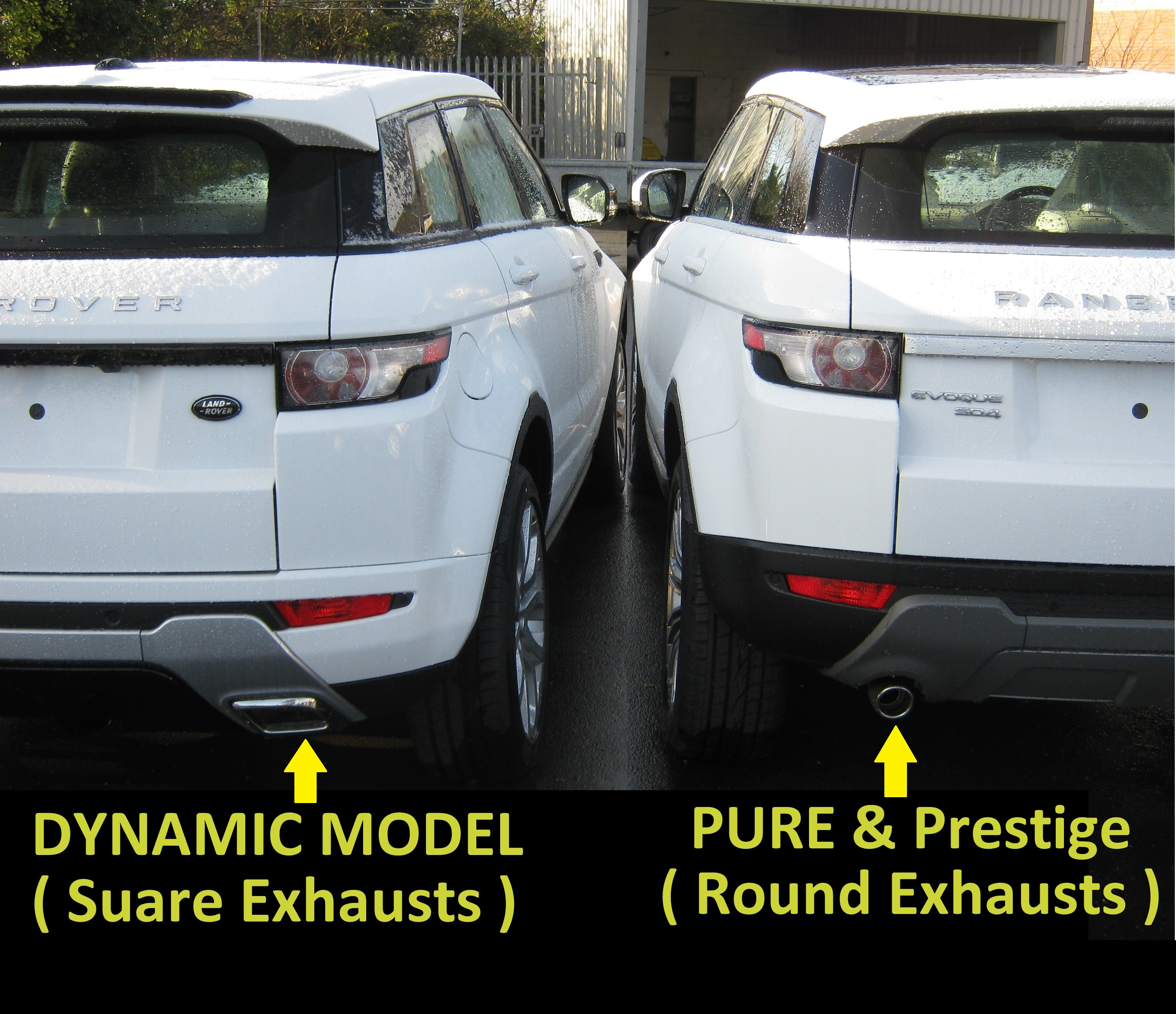 Range Rover Evoque Rear Mud Flap Guards Kit For Pure