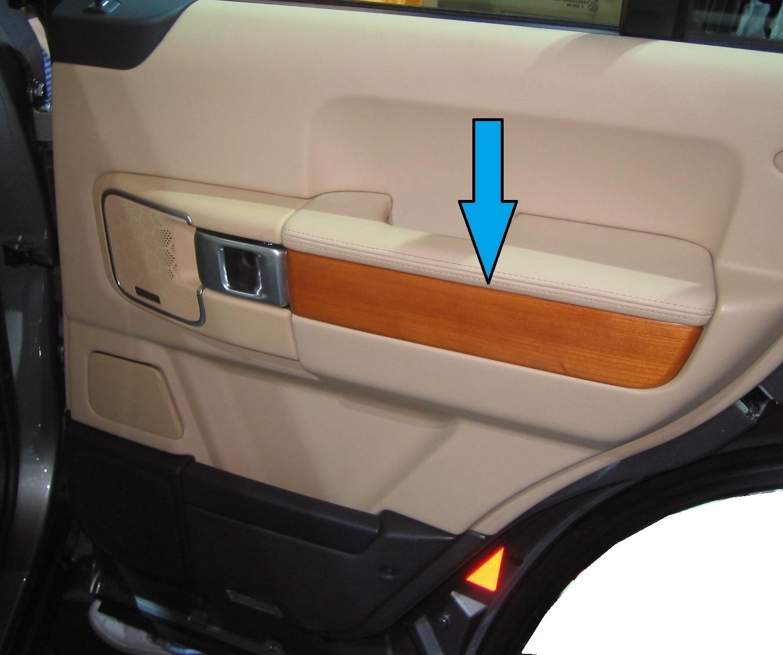 2002 Land Rover Range Rover Interior: Door Card Interior Trim Cherry Wood Veneer Range Rover