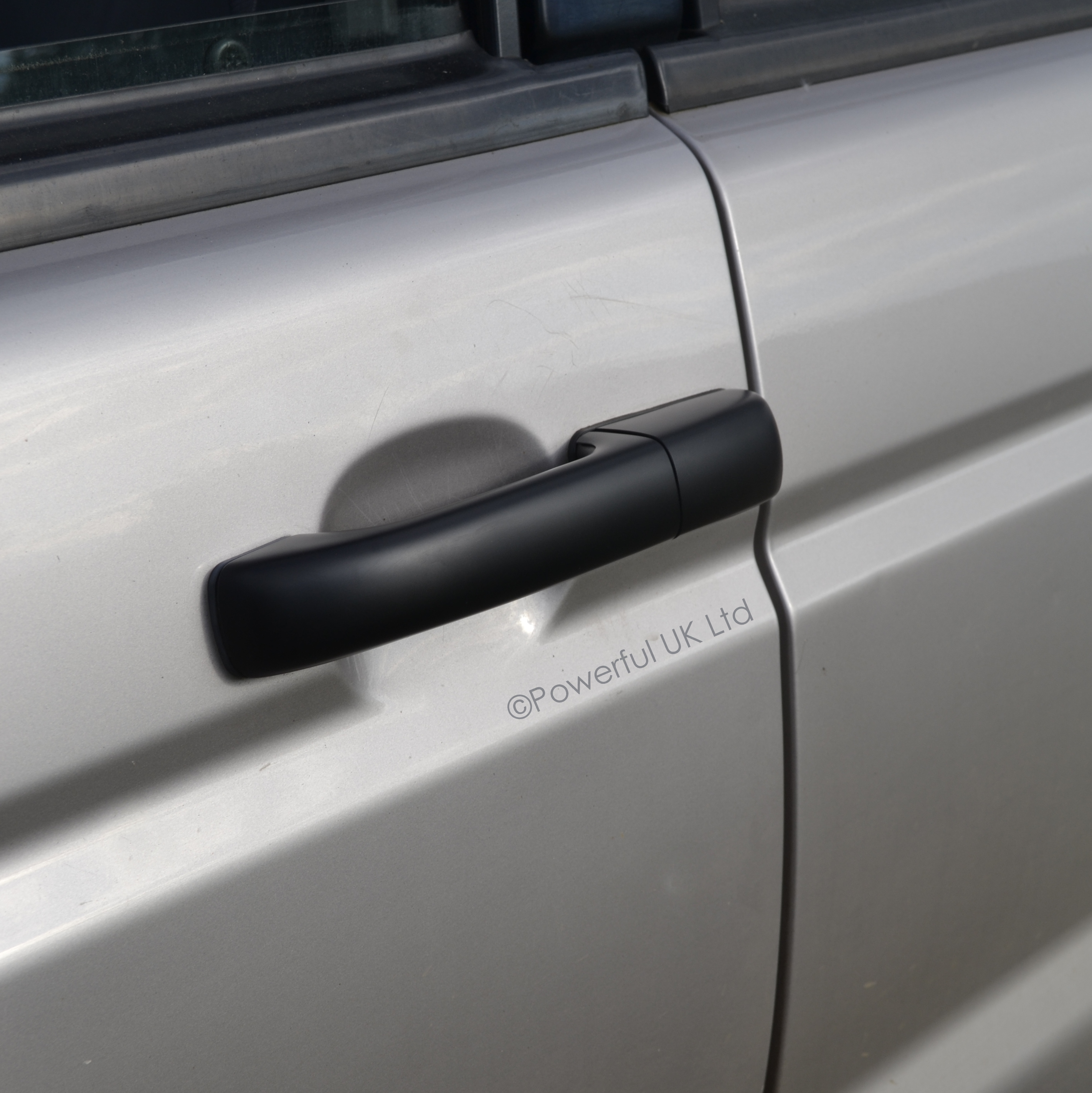 Satin Black door handle cover kit for Land Rover Discovery II 2 TD5 ...