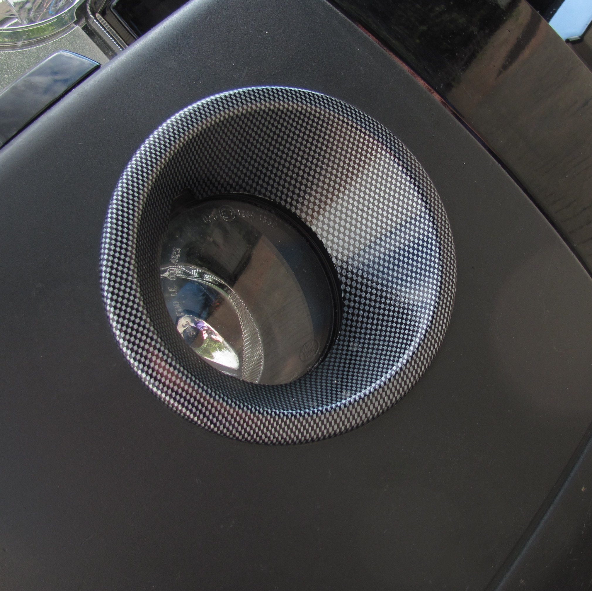 Winch Bumper With Led Lights By Rovers North For Discovery: Carbon Fiber Effect Front Bumper FOG LIGHT Lamp Surrounds