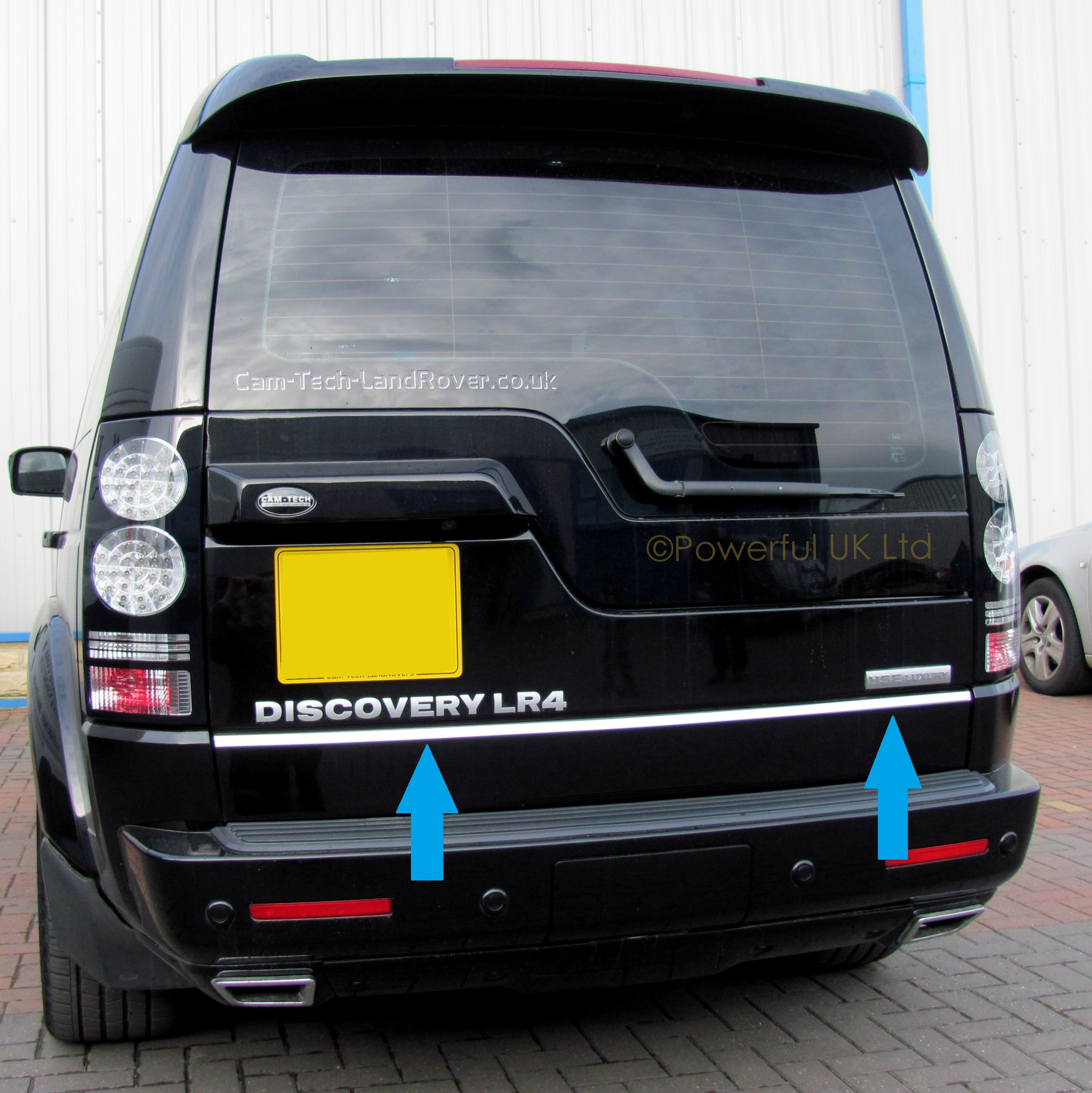 Land Rover Discovery 3&4 bright rear door chrome tailgate ...