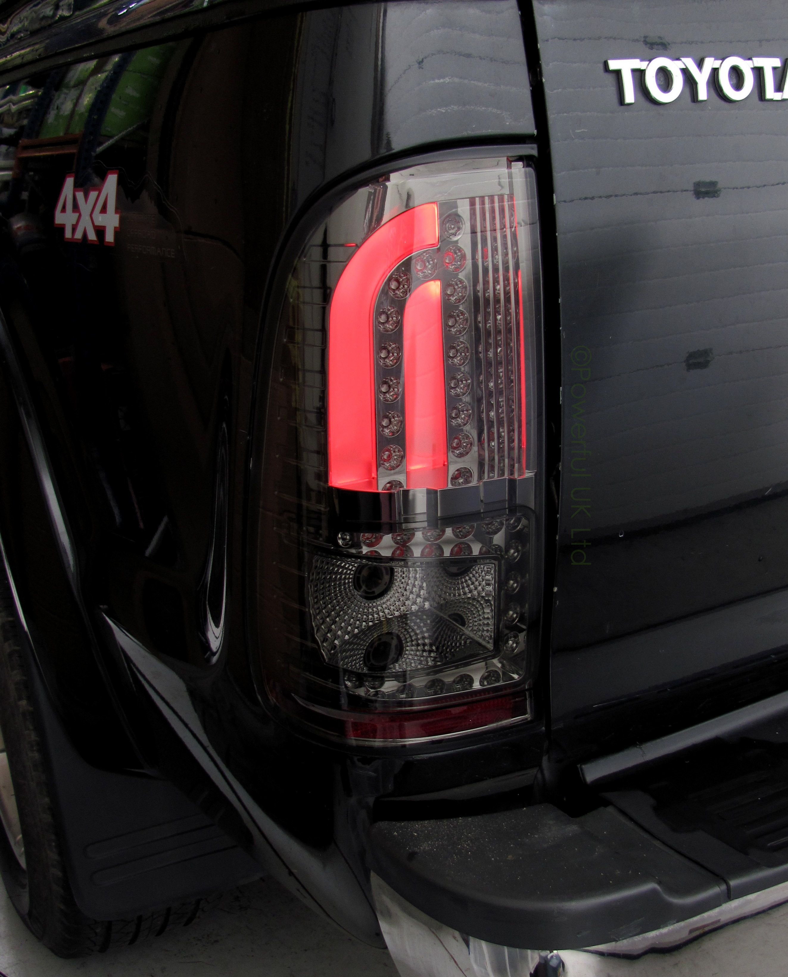 Smoked Pair of LED Rear Lights tail lamp Toyota Hilux Revo pickup 2016 asia spec