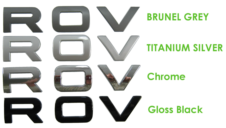 Chrome Lettering for RANGE ROVER P38 Bonnet letters badge ...