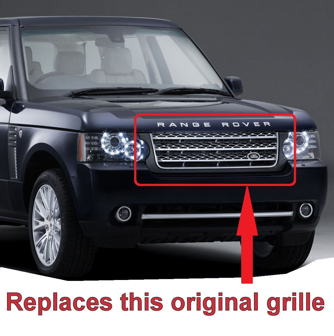 Full Black L405 Style Grille Conversion Range Rover L322